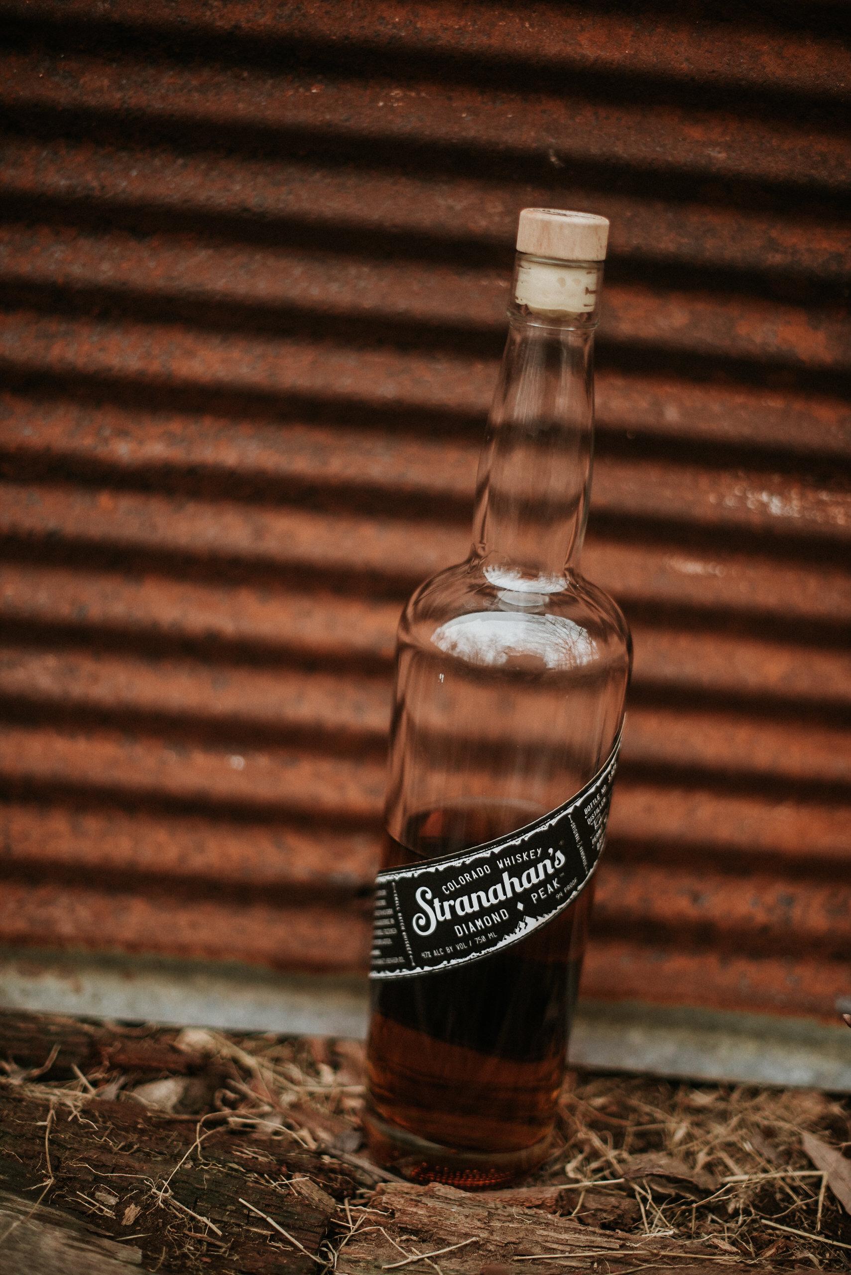 Bottle of Stranahan's whiskey