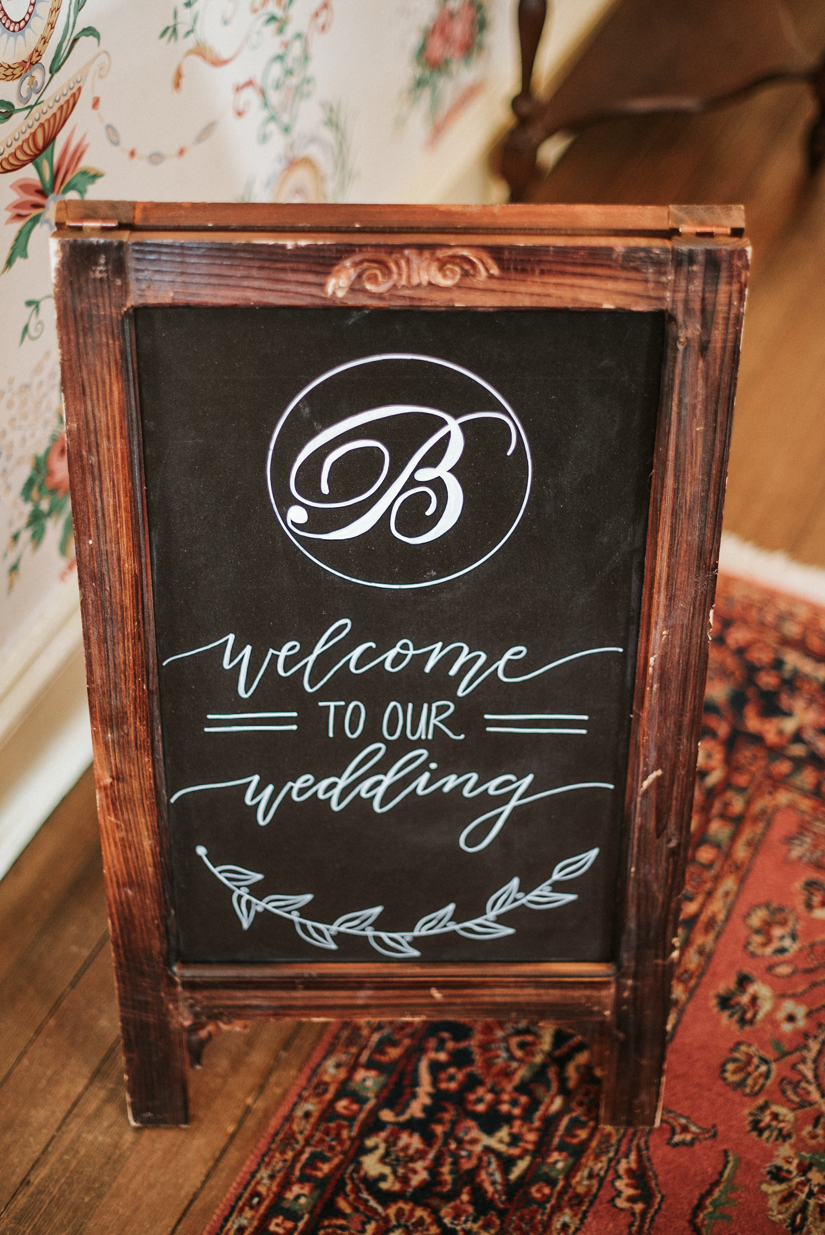 Interior wedding signage