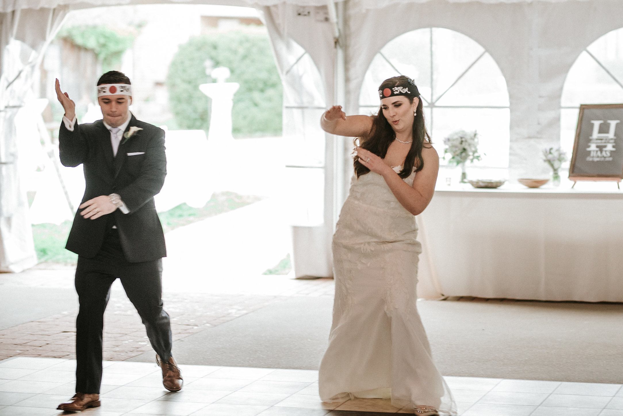 Bride and groom dance routine