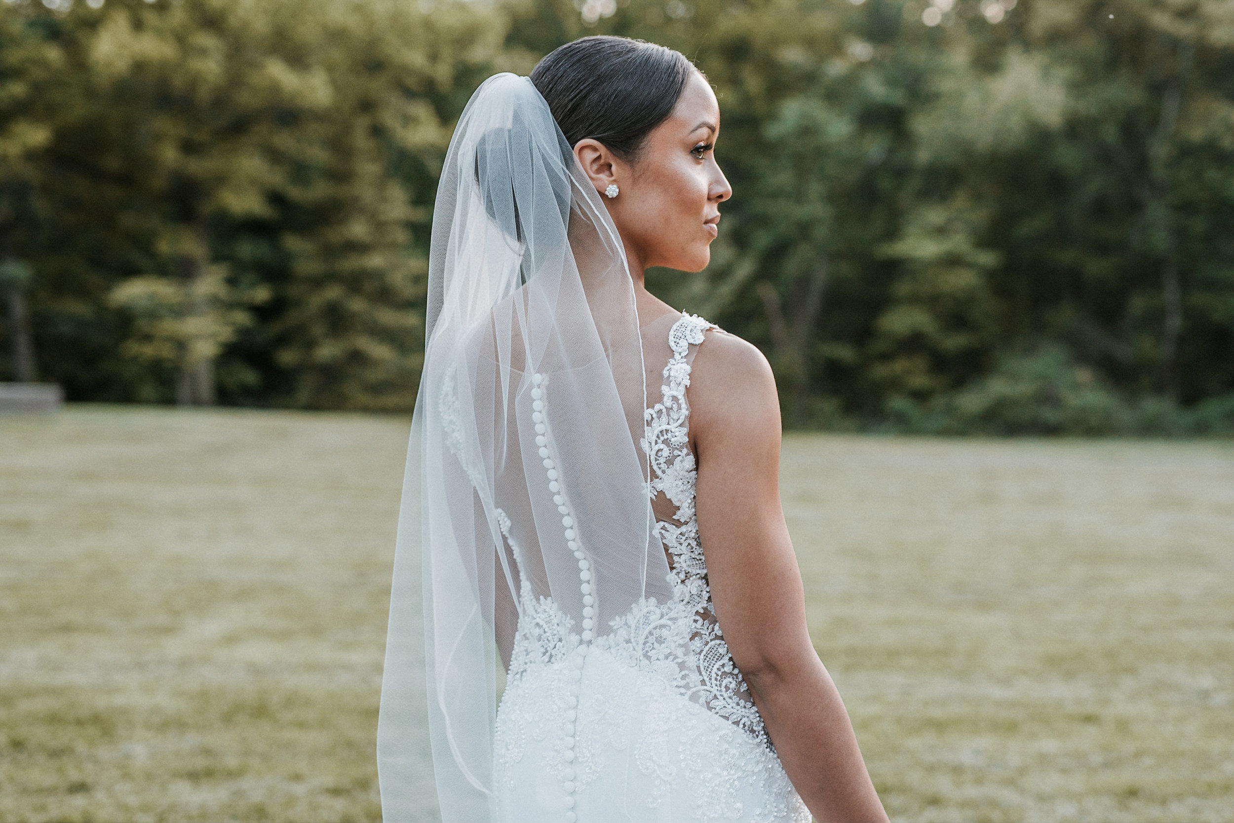 Bride seen from behind
