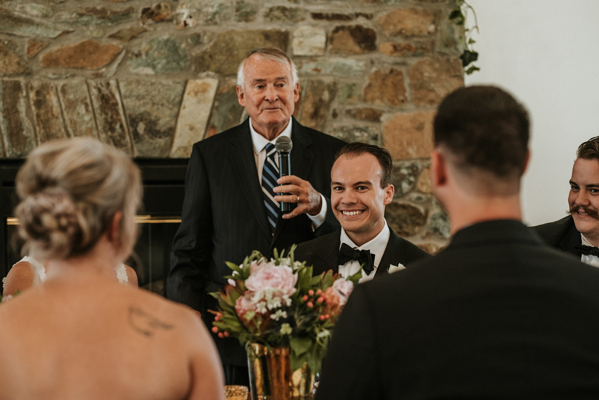Toasts during wedding