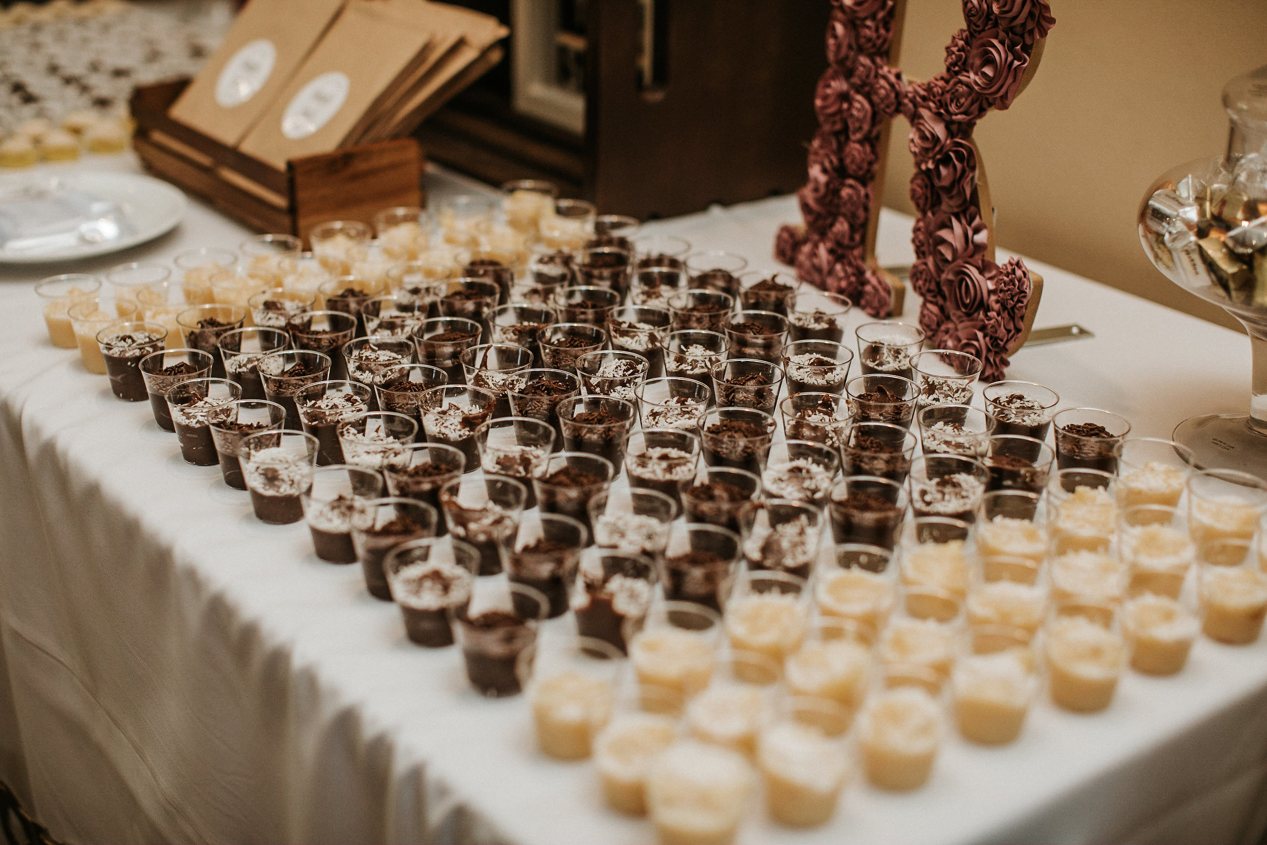 Desserts at wedding reception