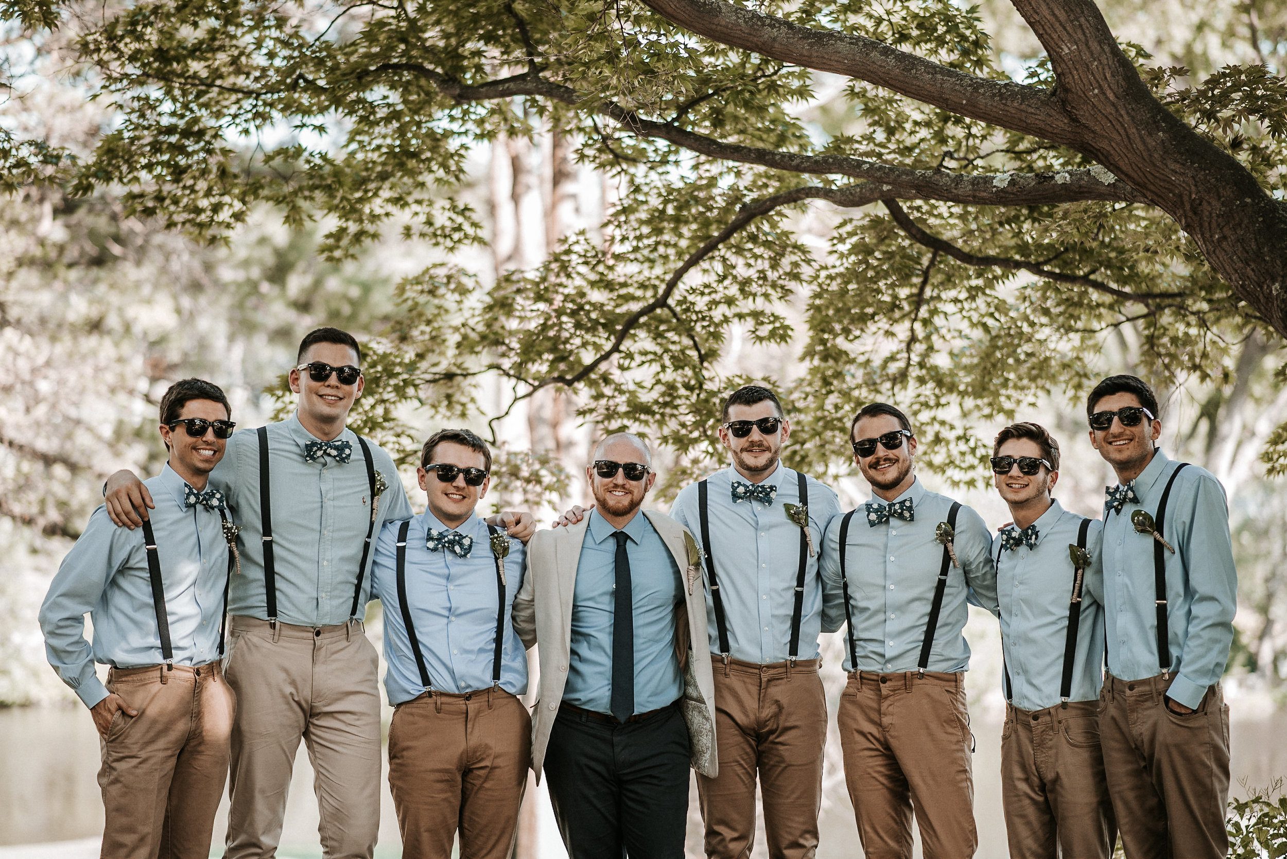 Groom and all of the groomsmen