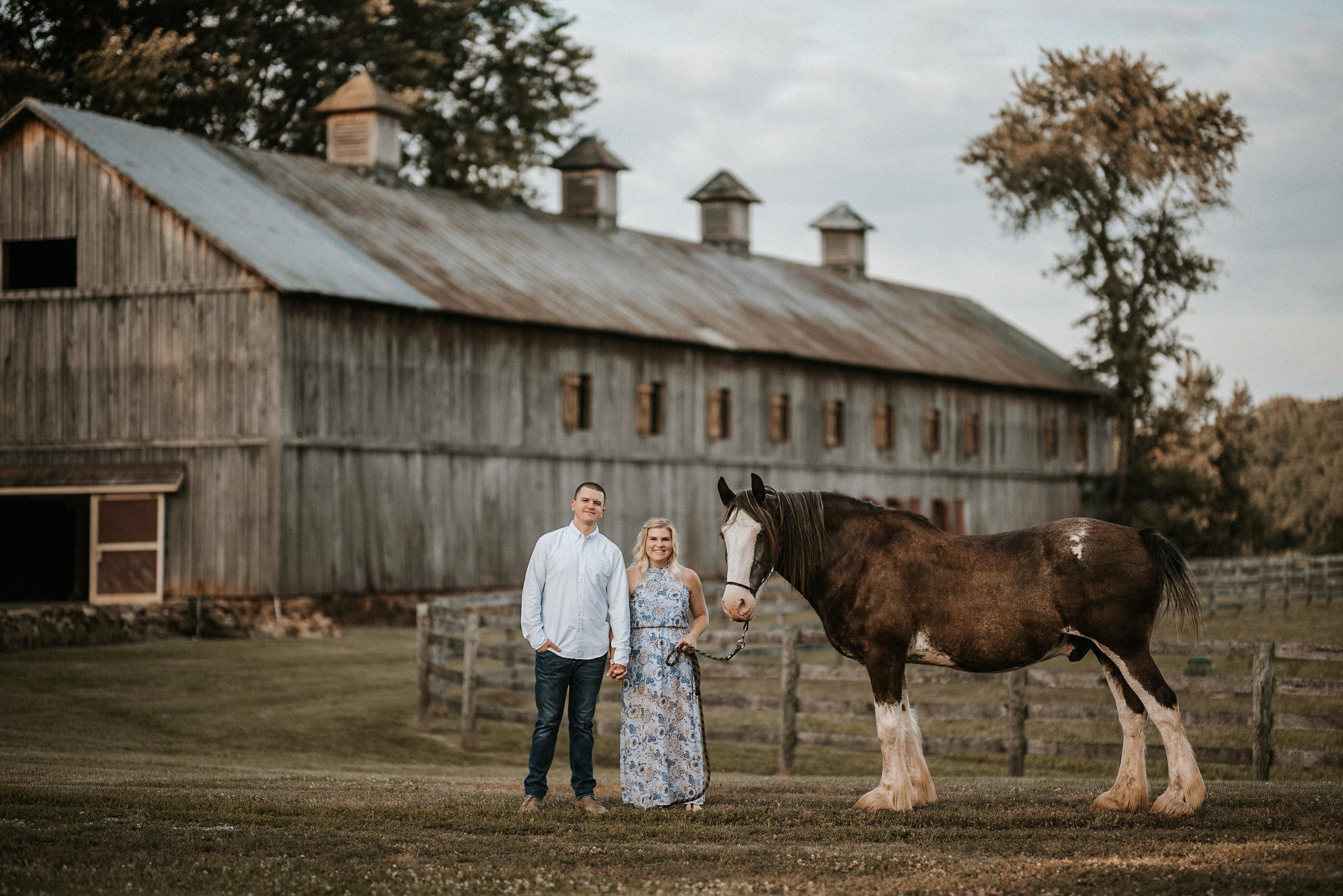 sylvanside farm engagement photo