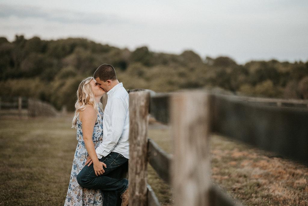 engagement photo at sylvanside farm