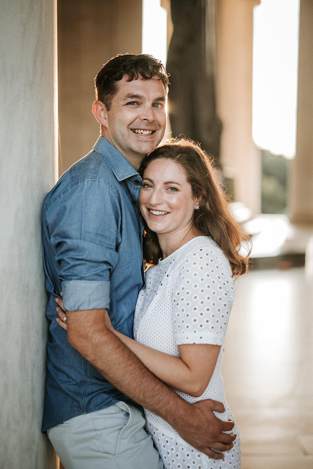 Engagement Photo at Jefferson Memorial