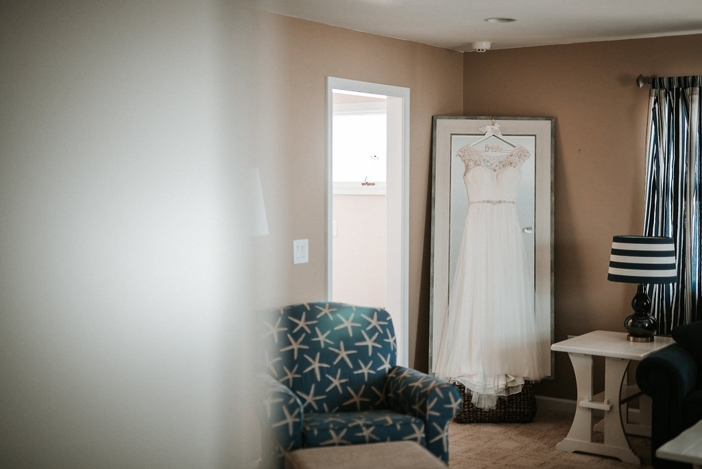 Wedding Dress Photo at Crystal Point Yacht Club