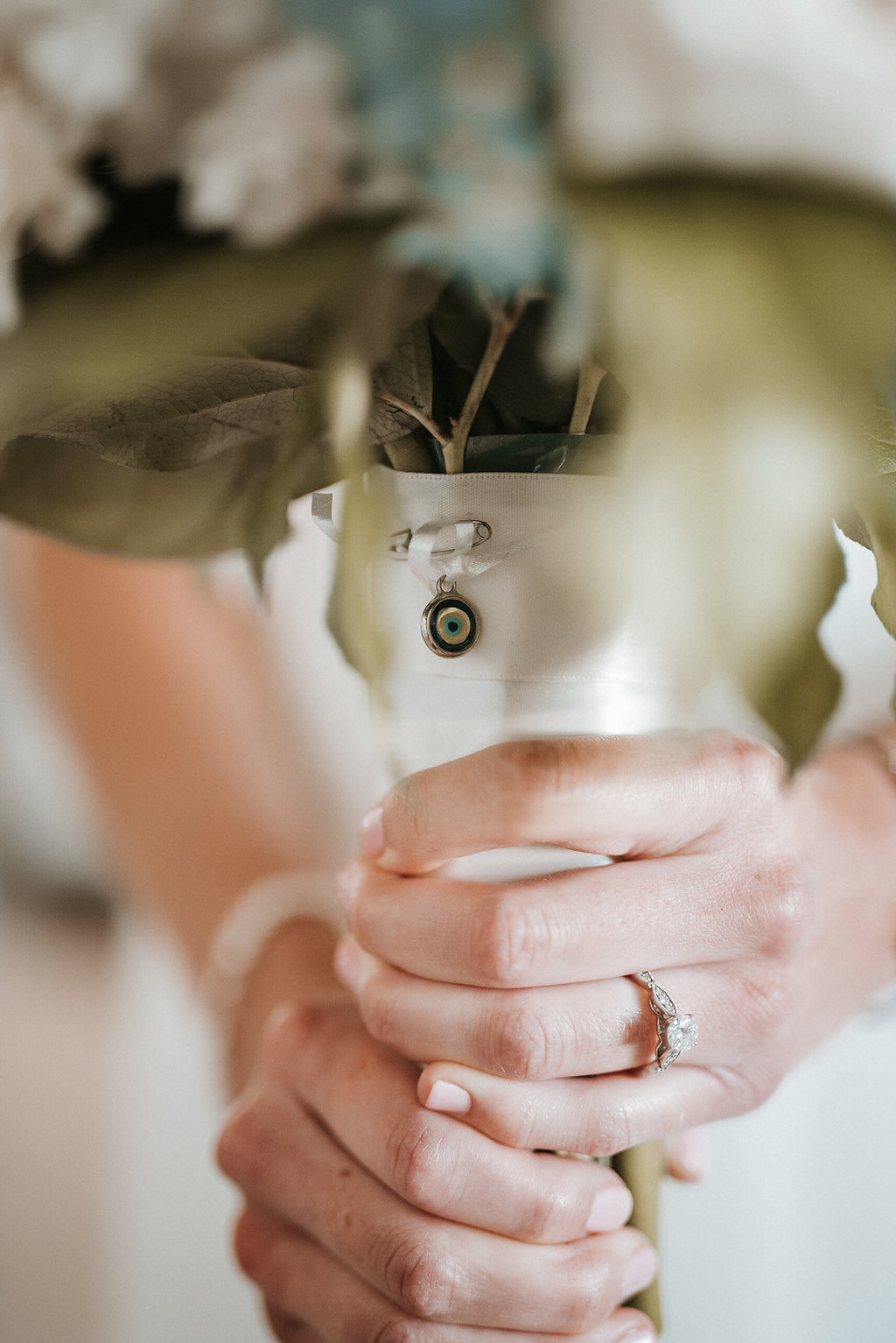Bride Holding Bouquet at Crystal Point Yacht Club