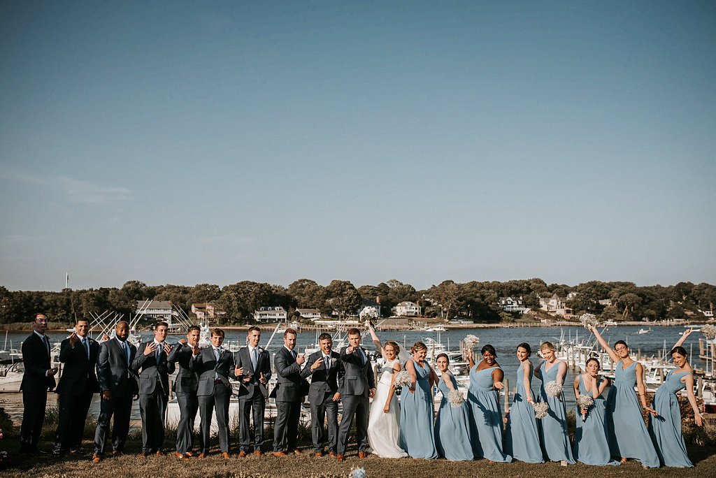 Bridal Party and Groomsmen at Crystal Point Yacht Club