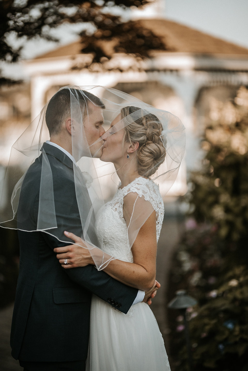 Bride and Groom at Crystal Point Yacht Club