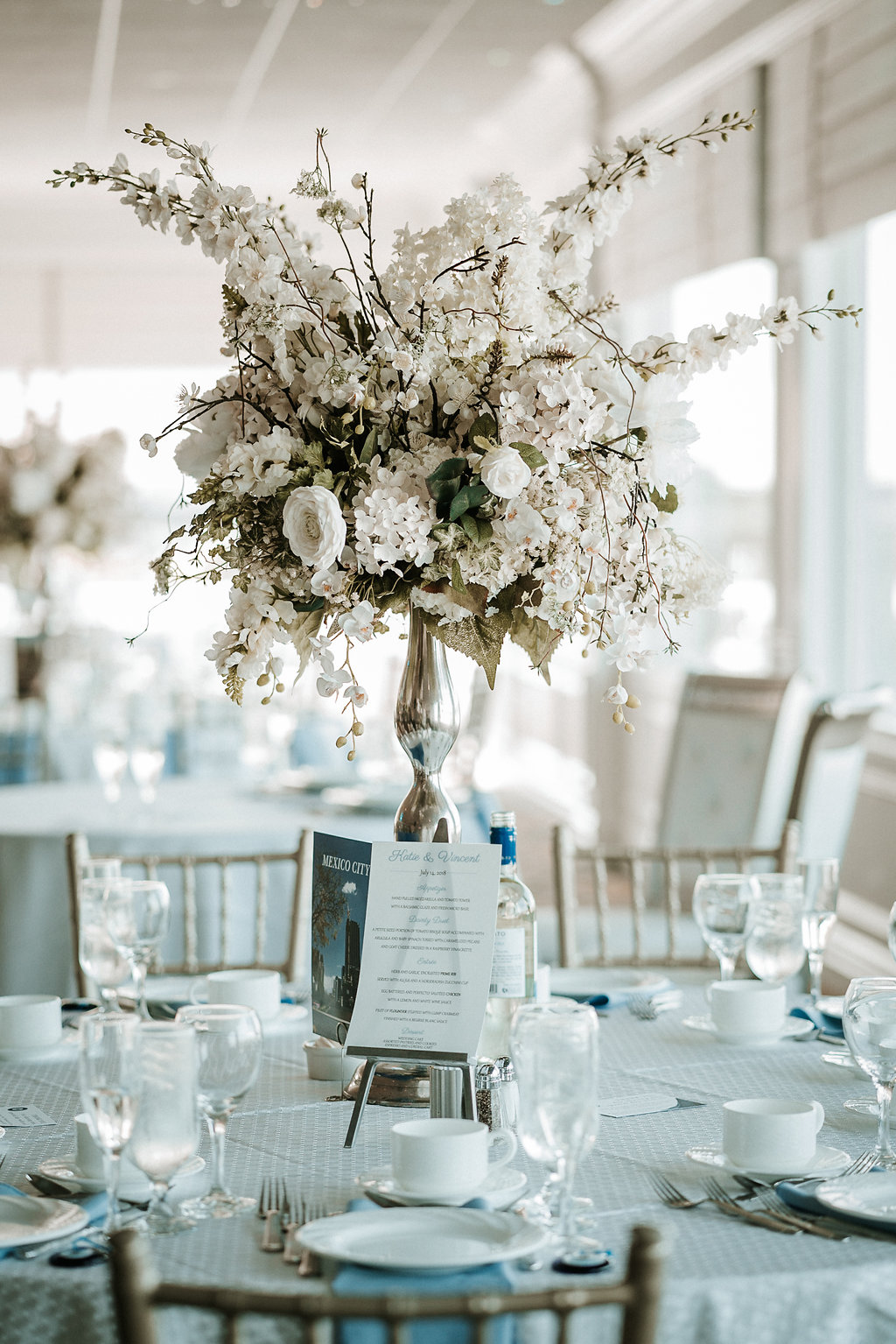 Reception detail at crystal point yacht club