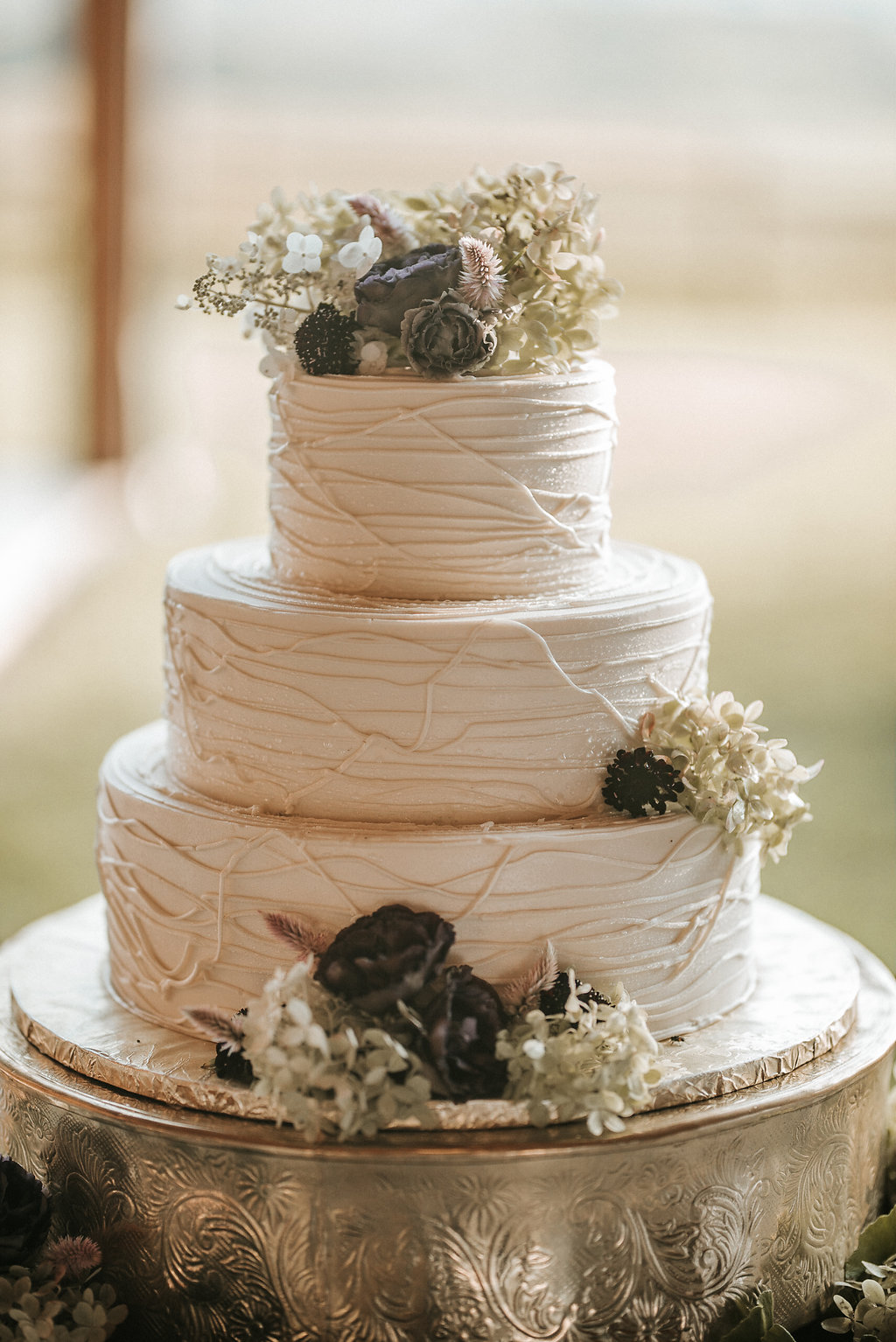 Wedding Cake Detail Shot at The Pavilion Shenandoah Woods