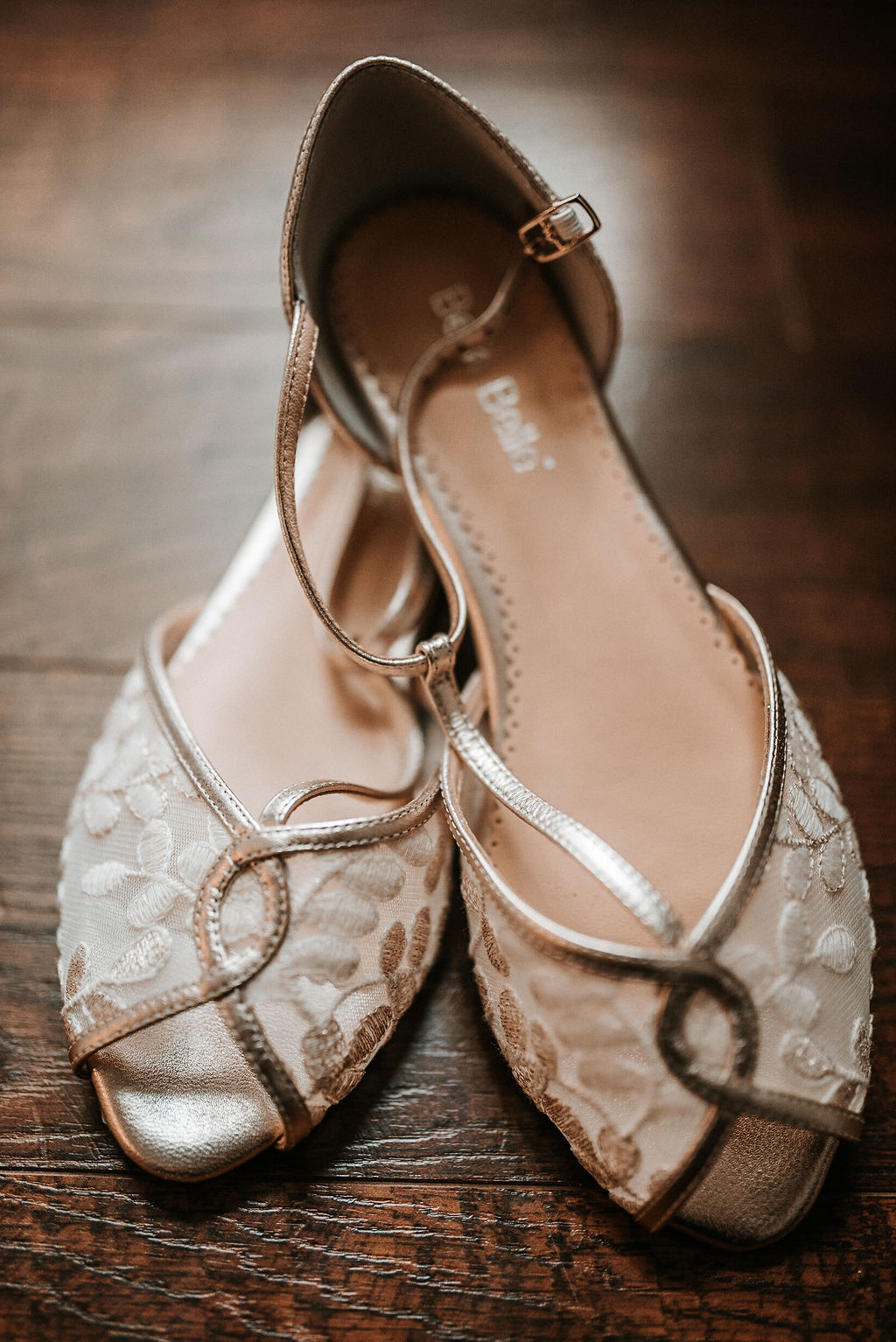 Wedding Detail shot of Bride's Shoes at The Woodlands at Algonkian