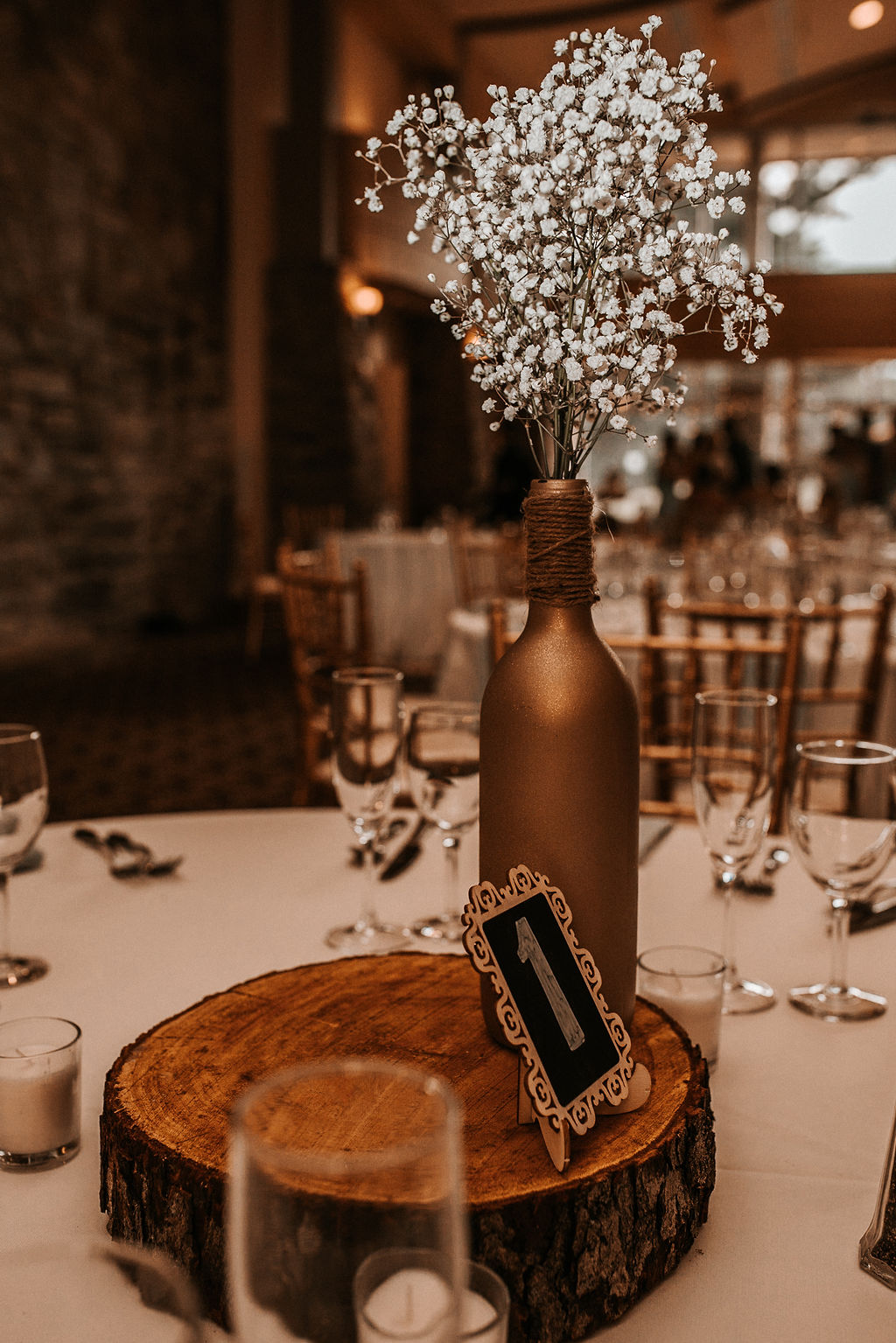 Reception Detail shot at The Woodlands at Algonkian