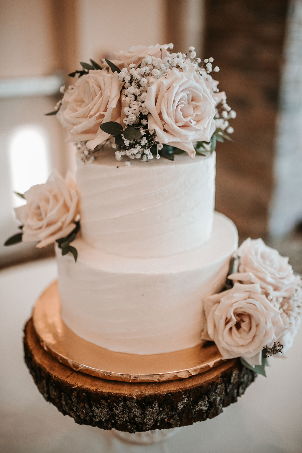 Wedding Cake Detail Shot at The Woodlands at Algonkian