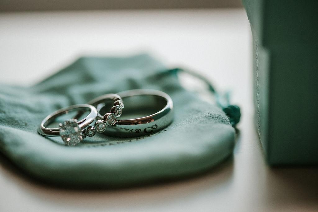 Wedding Ring Detail Shot at Bluemont Vineyard