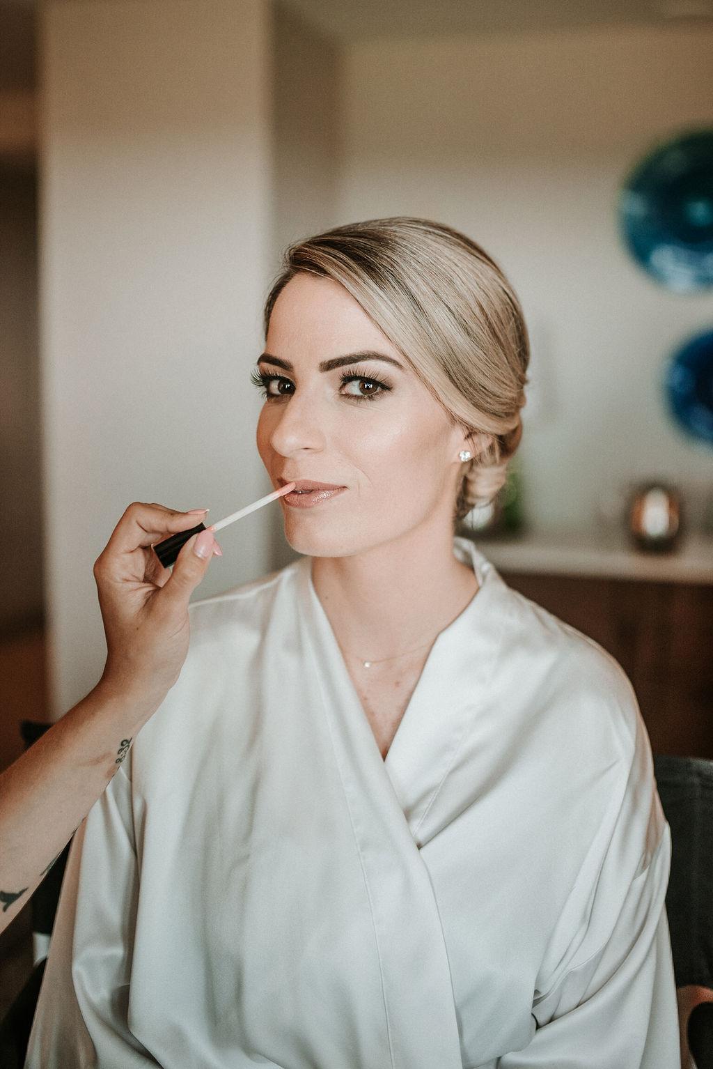 Bride Getting Ready at Bluemont Vineyard