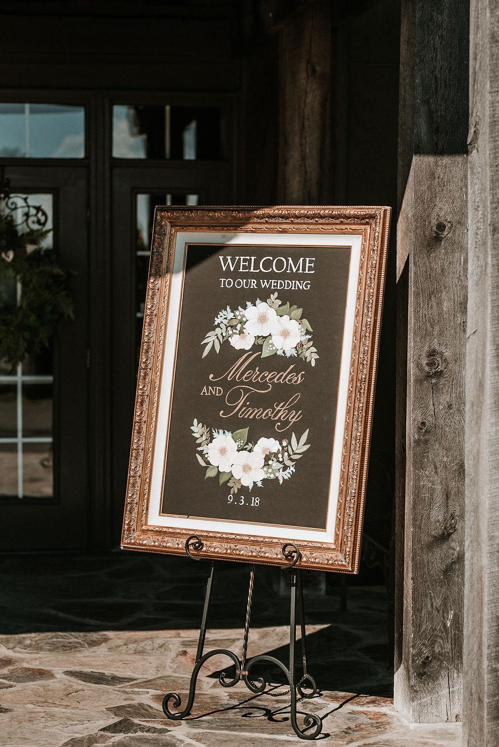 Wedding Ceremony Detail at Bluemont Vineyard