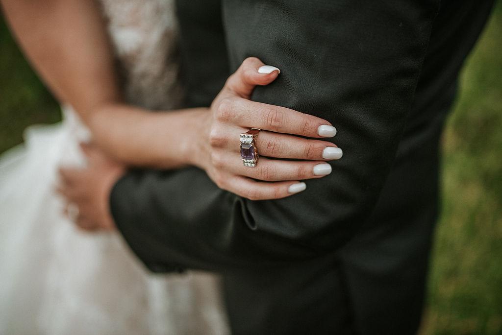 Detail Shot of Ring at Bluemont Vineyard