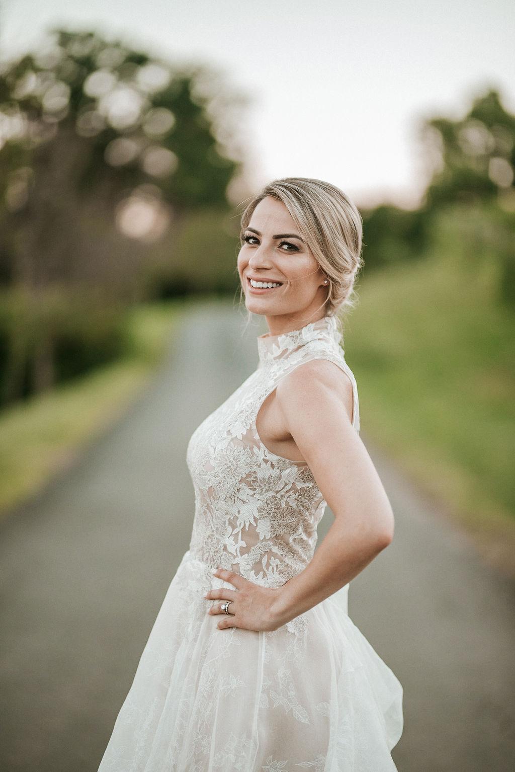 Bride Portrait at Bluemont Vineyard
