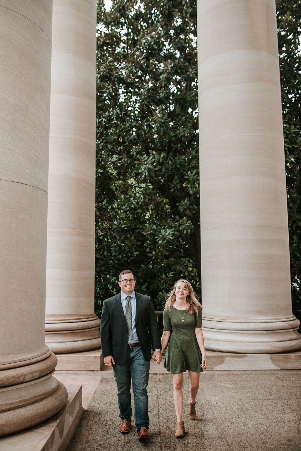Engagement Shoot at Smithsonian National Portrait Gallery