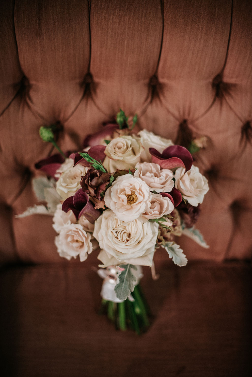 Detail Shot of bouquet at the Inn at the Old Silk Mill