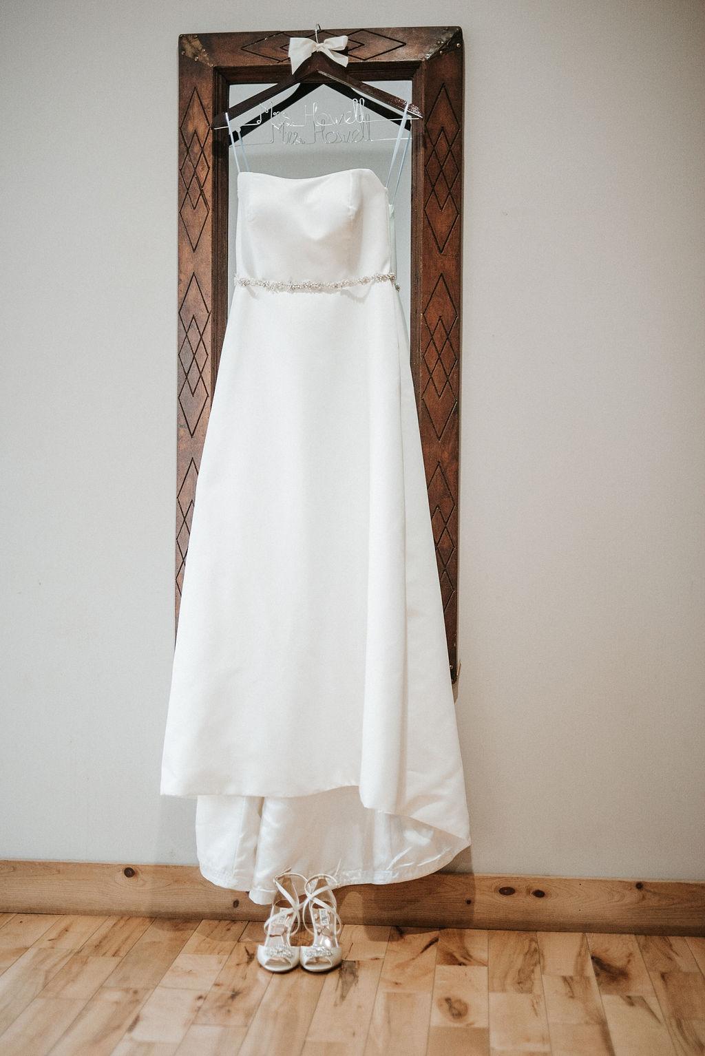 wedding dress detail shot at Linganore Winecellars