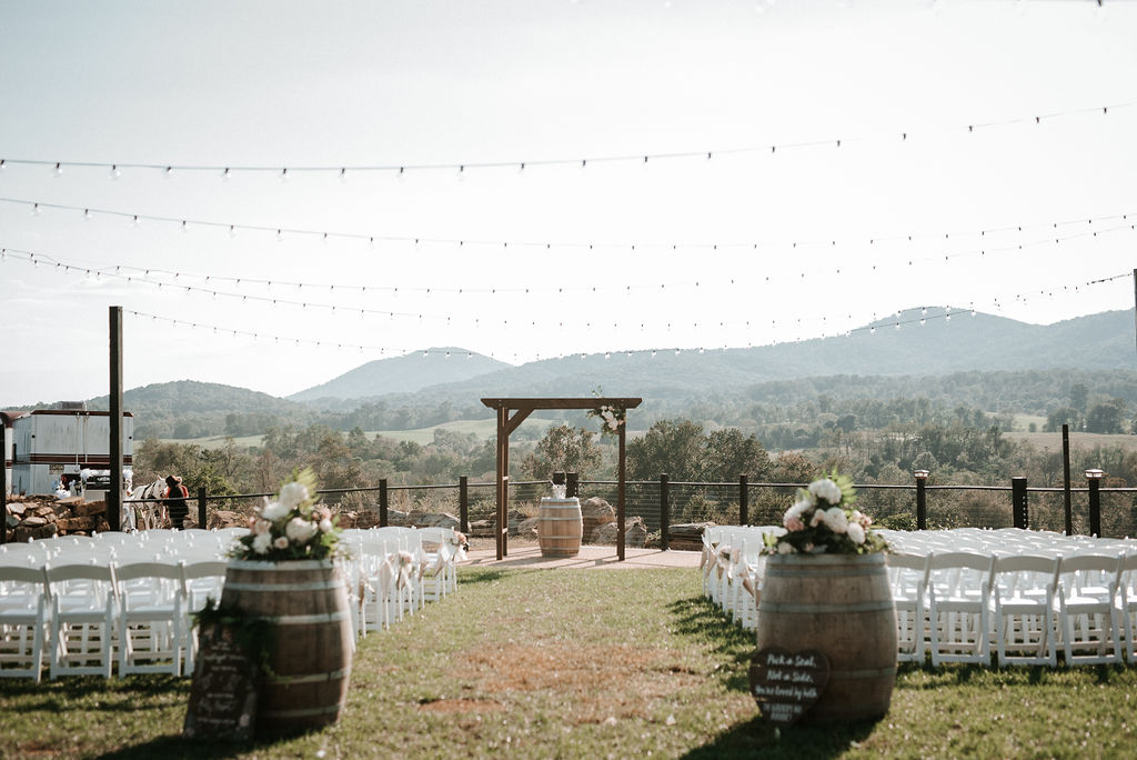 ceremony site at Blue Valley Vineyard