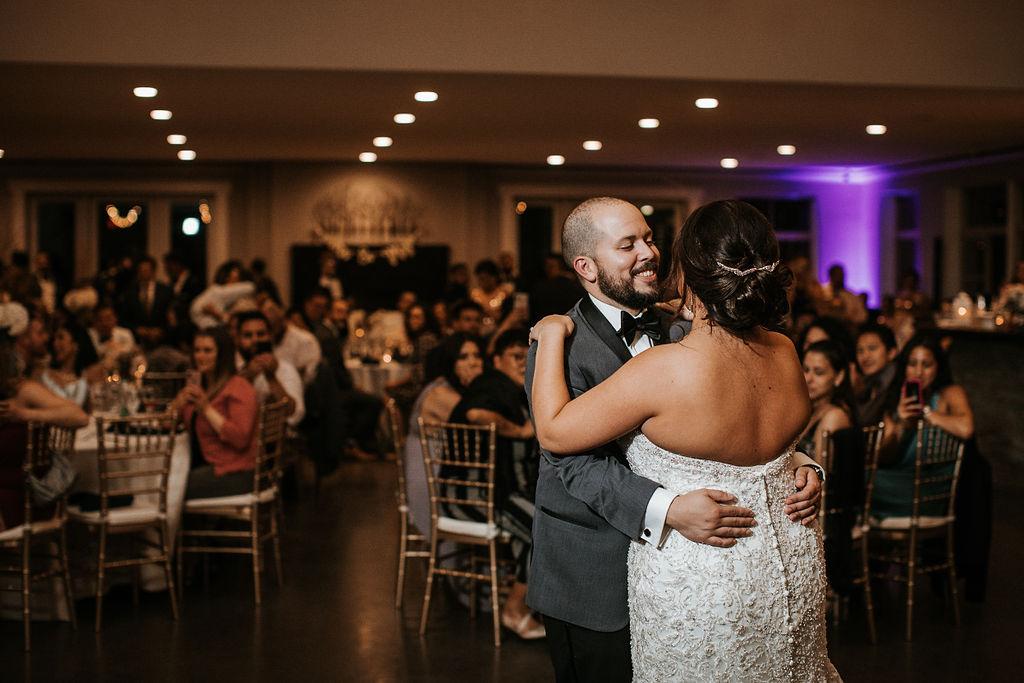 Bride and Groom Dancing at Blue Valley Vineyard