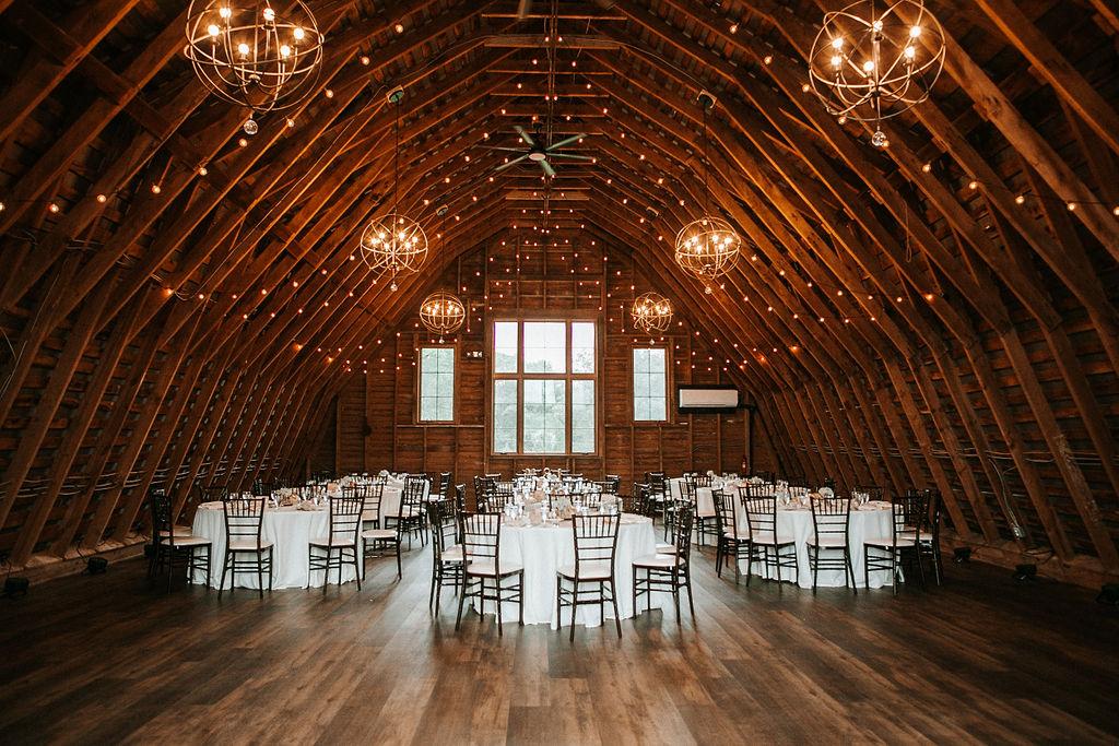 wedding reception site at 48 Fields Farm