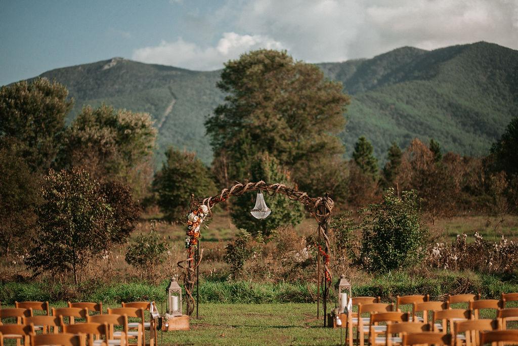 ceremony shot at Khimaira Farm