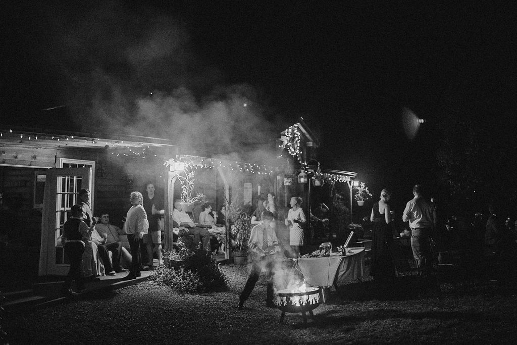 guests having fun at reception at Khimaira Farm