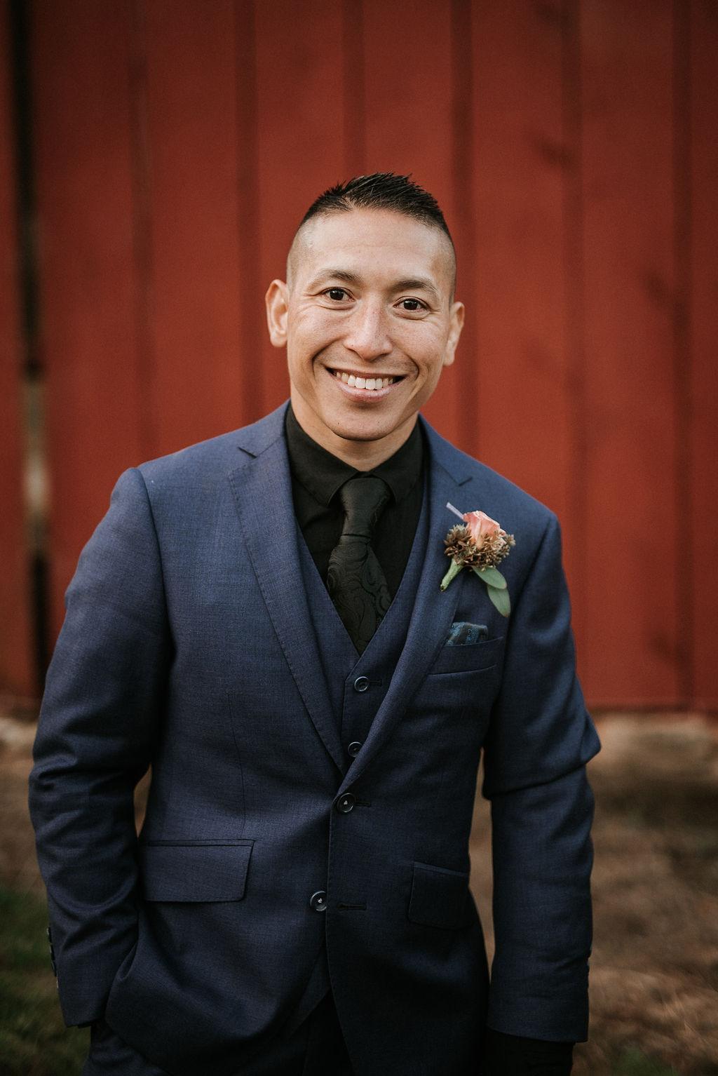 portrait of groom at kimble farm