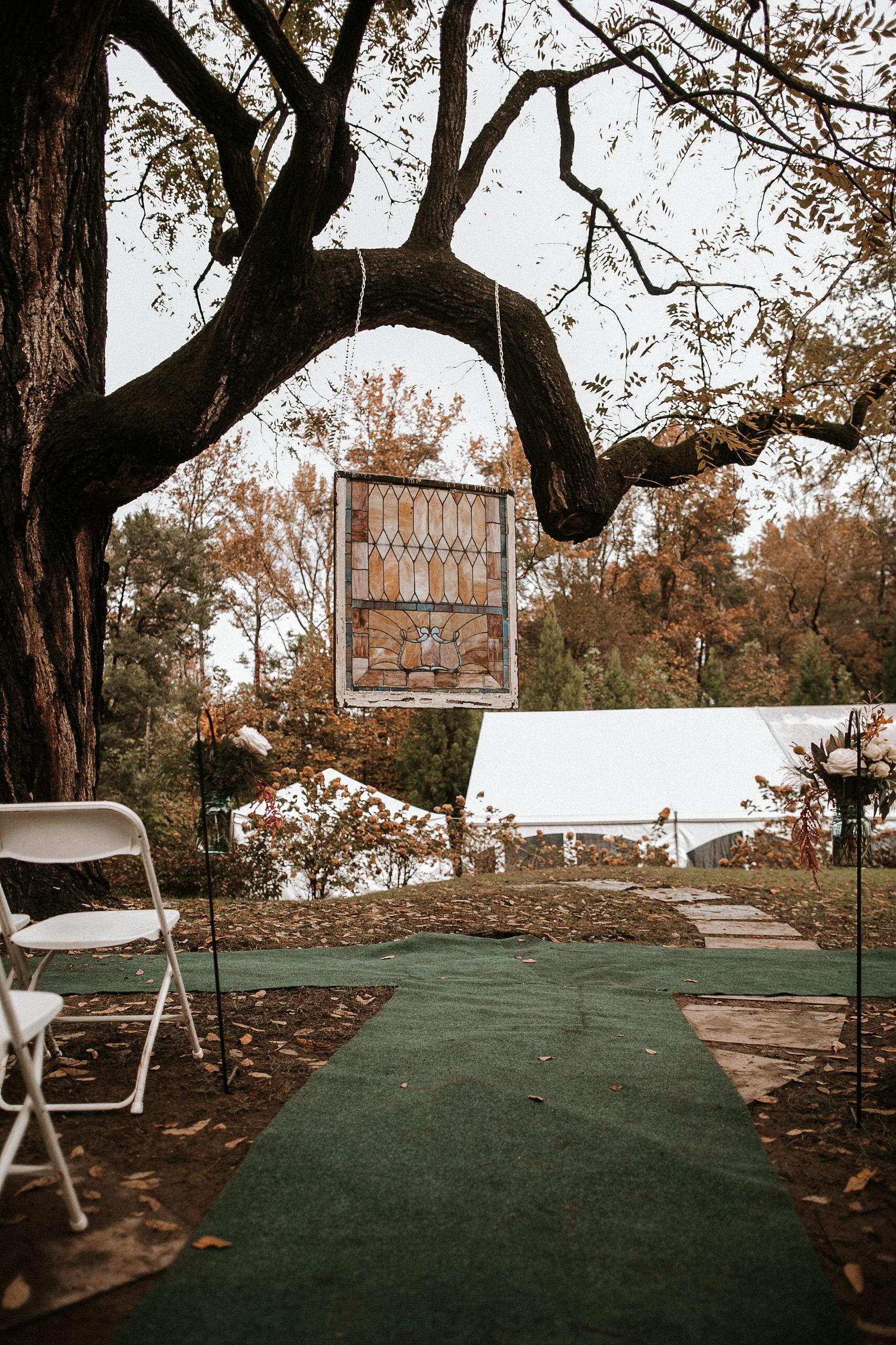 ceremony site at Braehead Manor