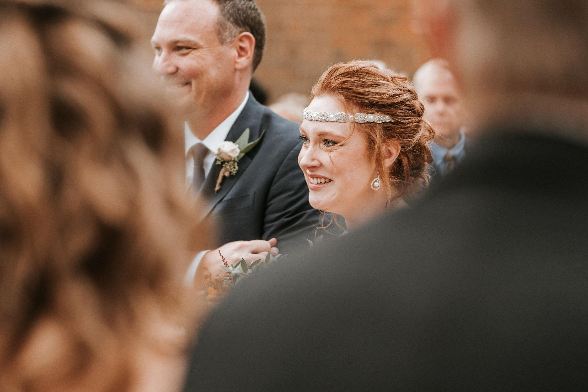 bride seeing the groom at Braehead Manor
