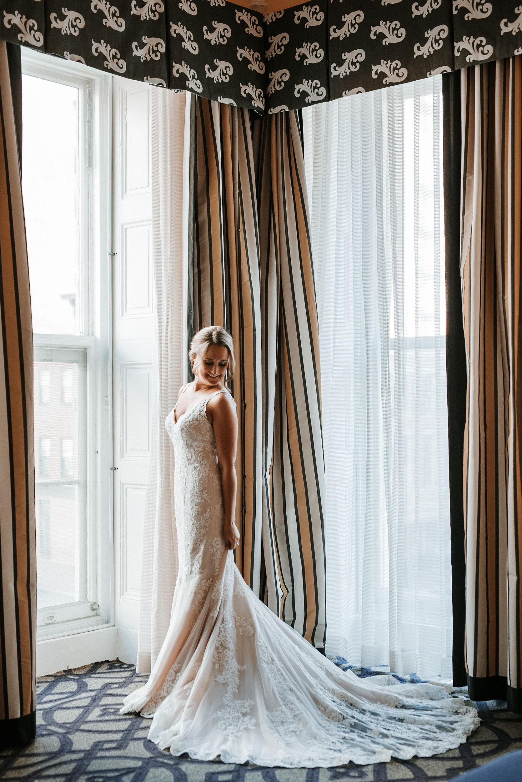 bridal portrait at Hotel Monaco