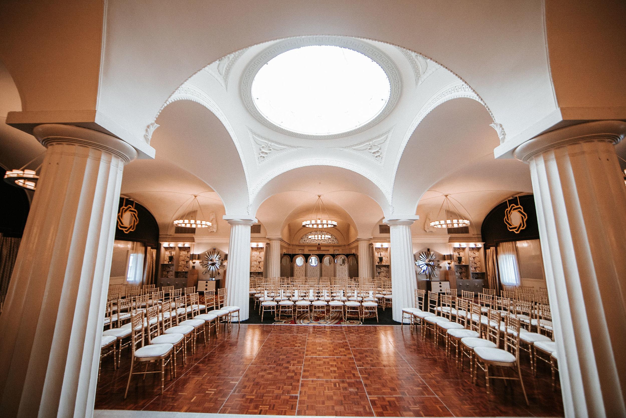 ceremony site at Hotel Monaco