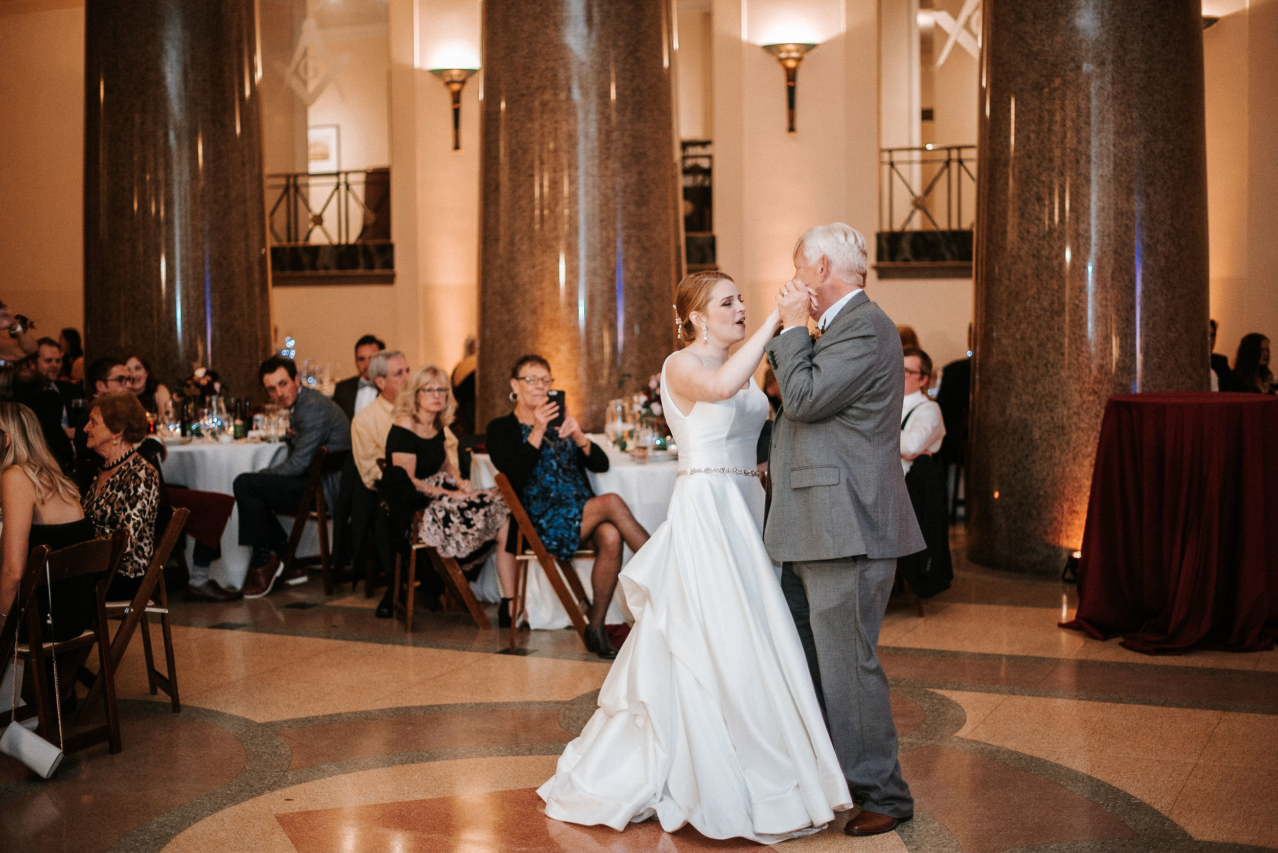 bride dancing with father at The George Washington Masonic National Memorial
