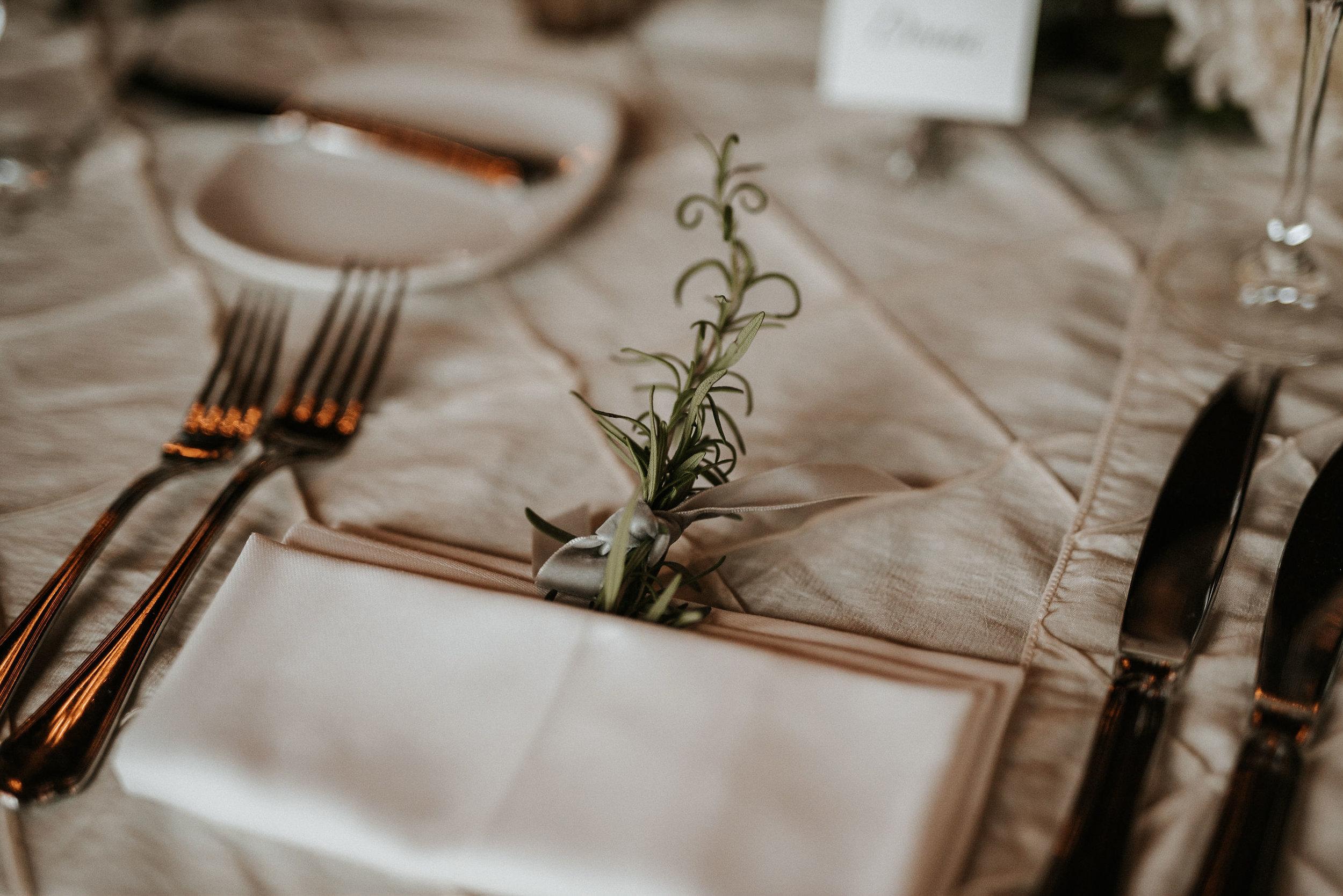 detail shot of dinner table Goodstone Inn & Restaurant