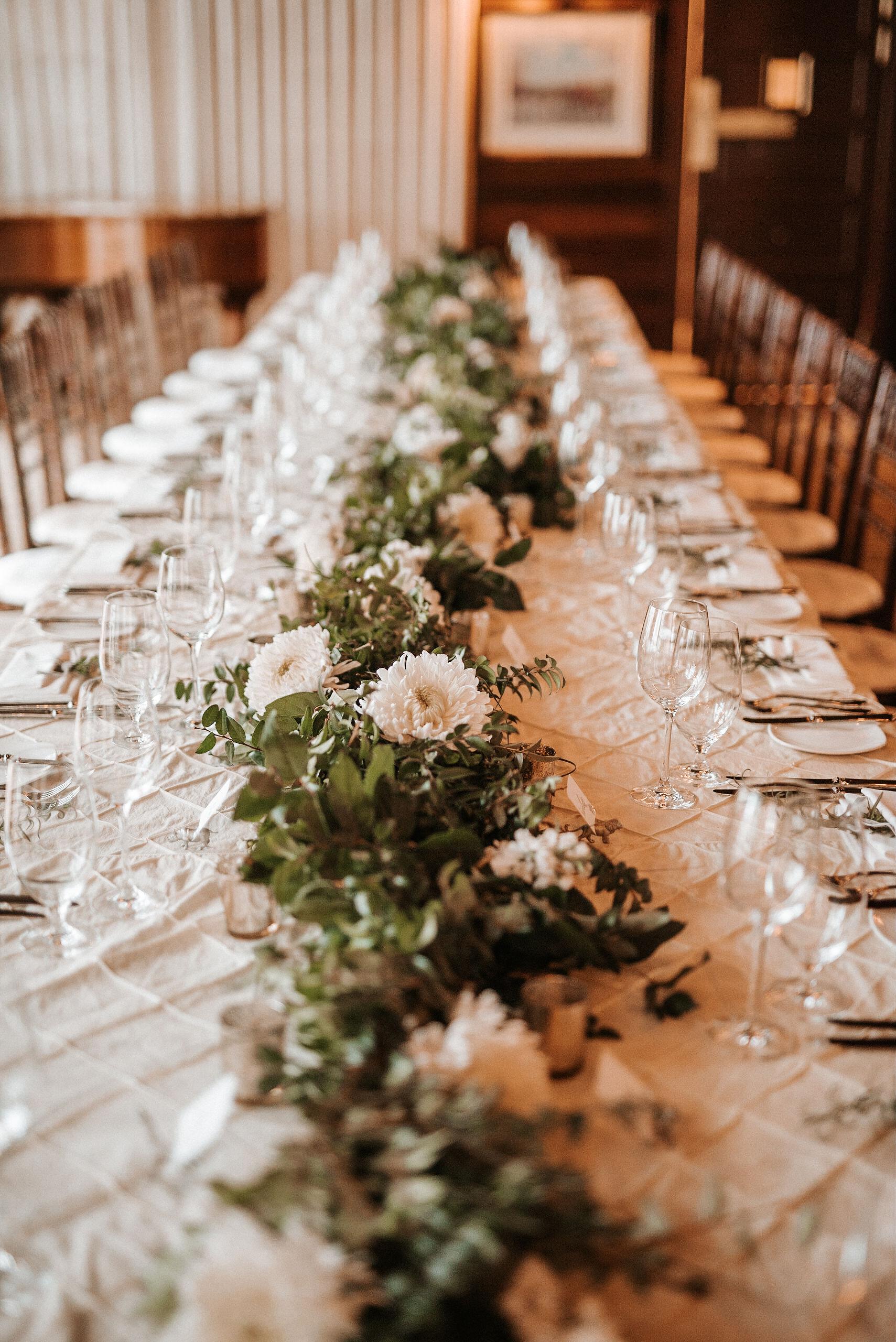 detail shot of dinner table at Goodstone Inn & Restaurant