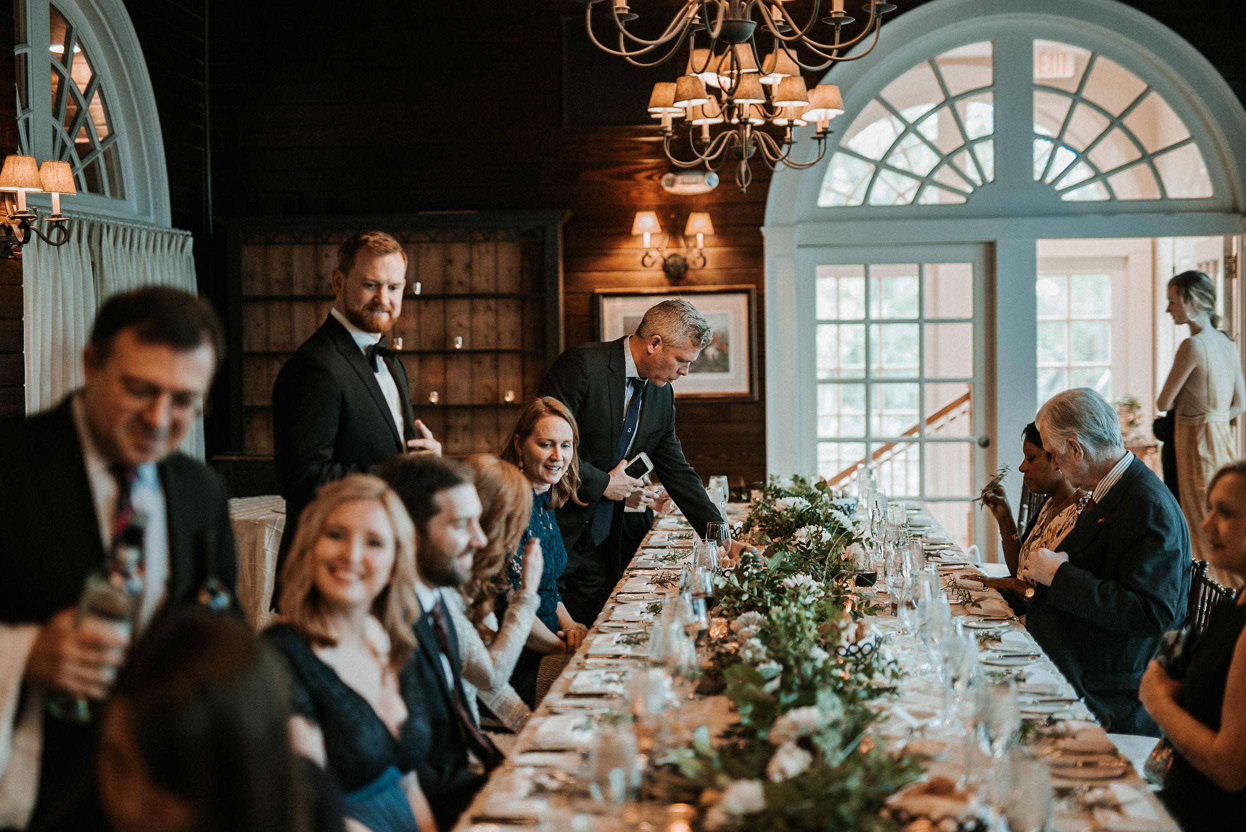 guests enjoying dinner at Goodstone Inn & Restaurant