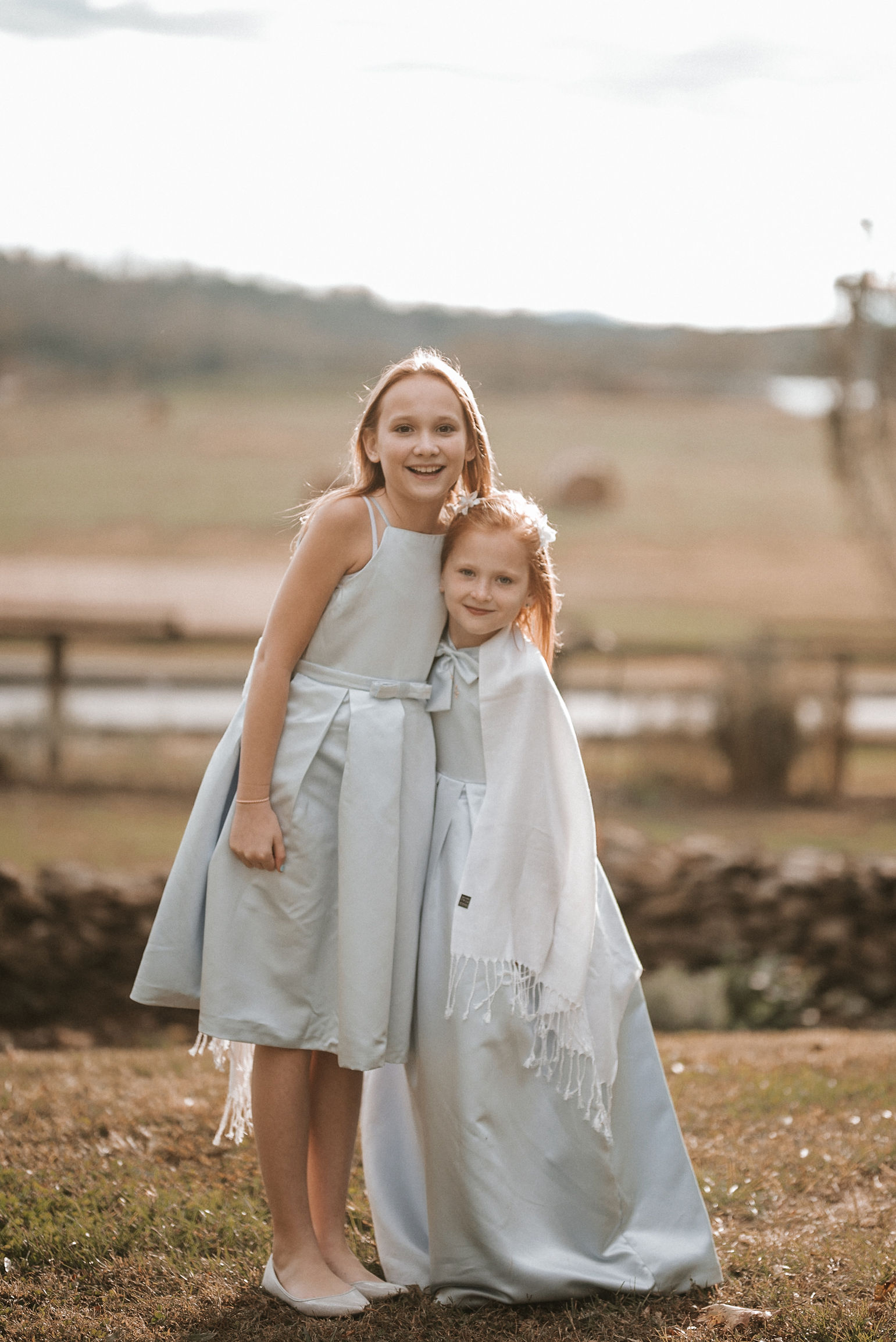 daughters of bride and groom at Goodstone Inn & Restaurant