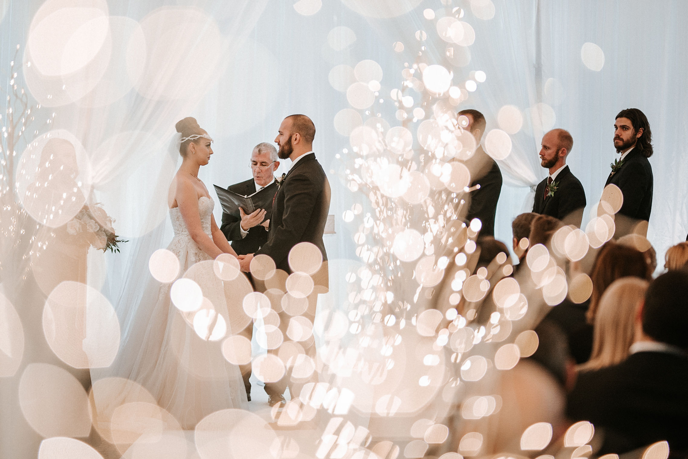 bride and groom at the altar at Whitehall Estate