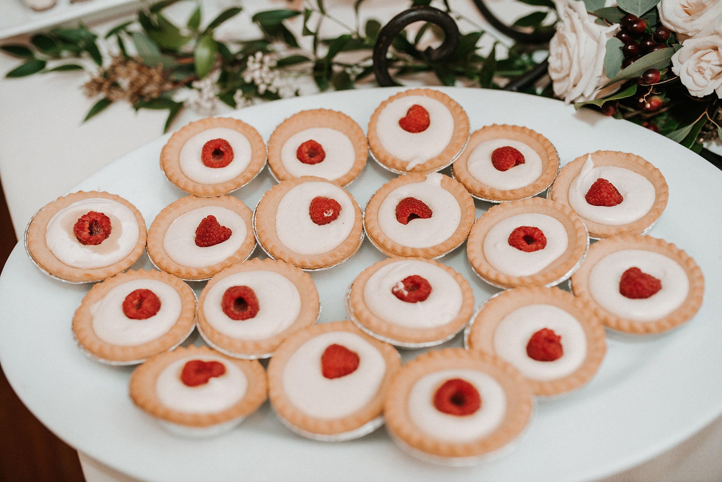 detail shot of dessert table at Whitehall Estate