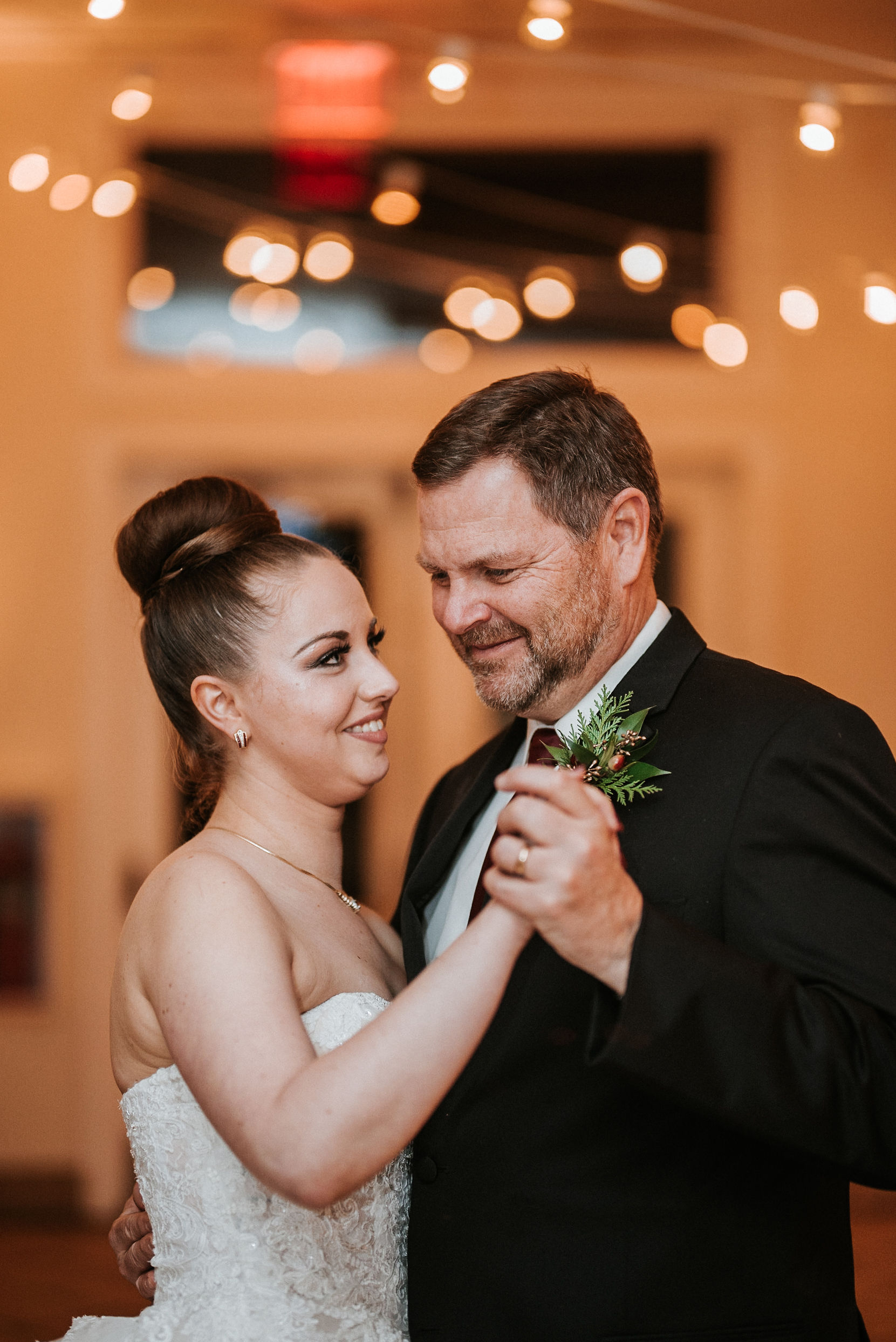 bride dancing with father of the bride at Whitehall Estate