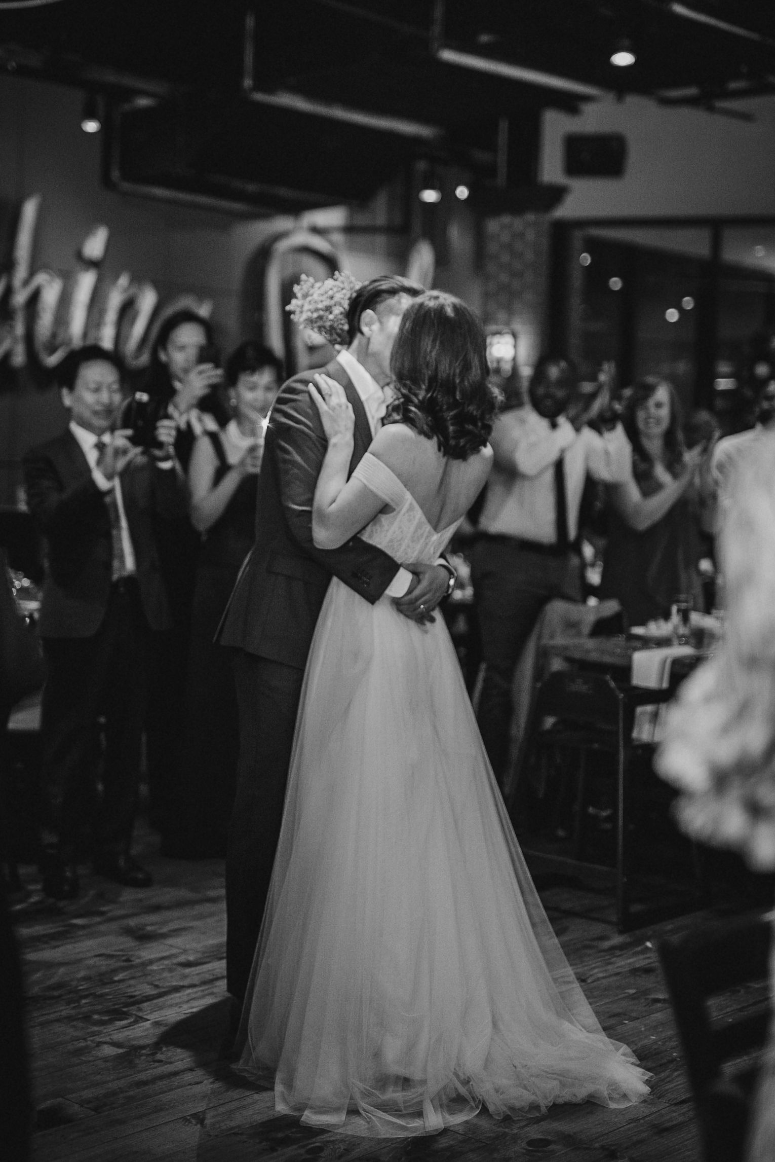 bride and groom having first dance at City Winery in Washington DC