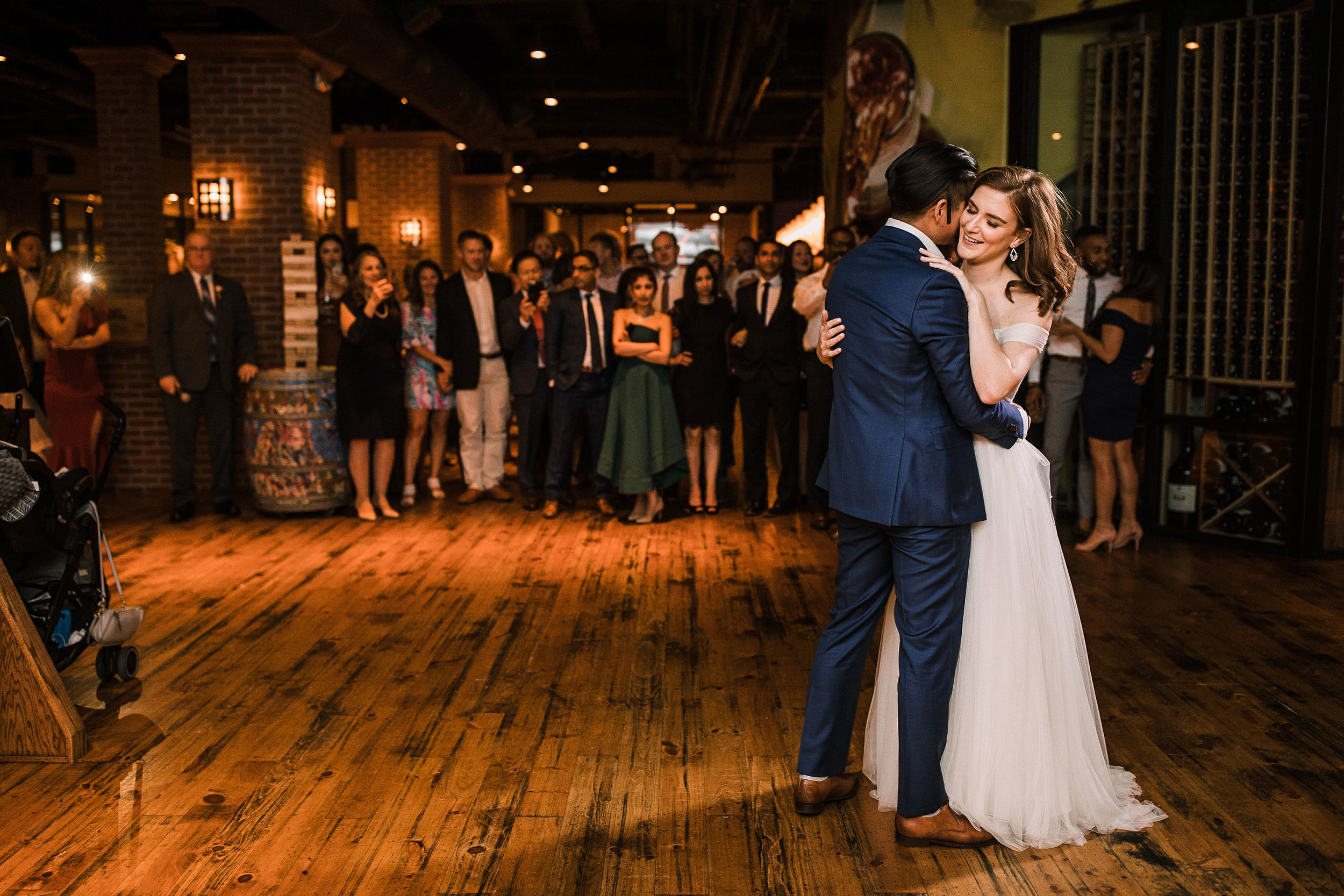 bride and groom dancing at City Winery in Washington DC