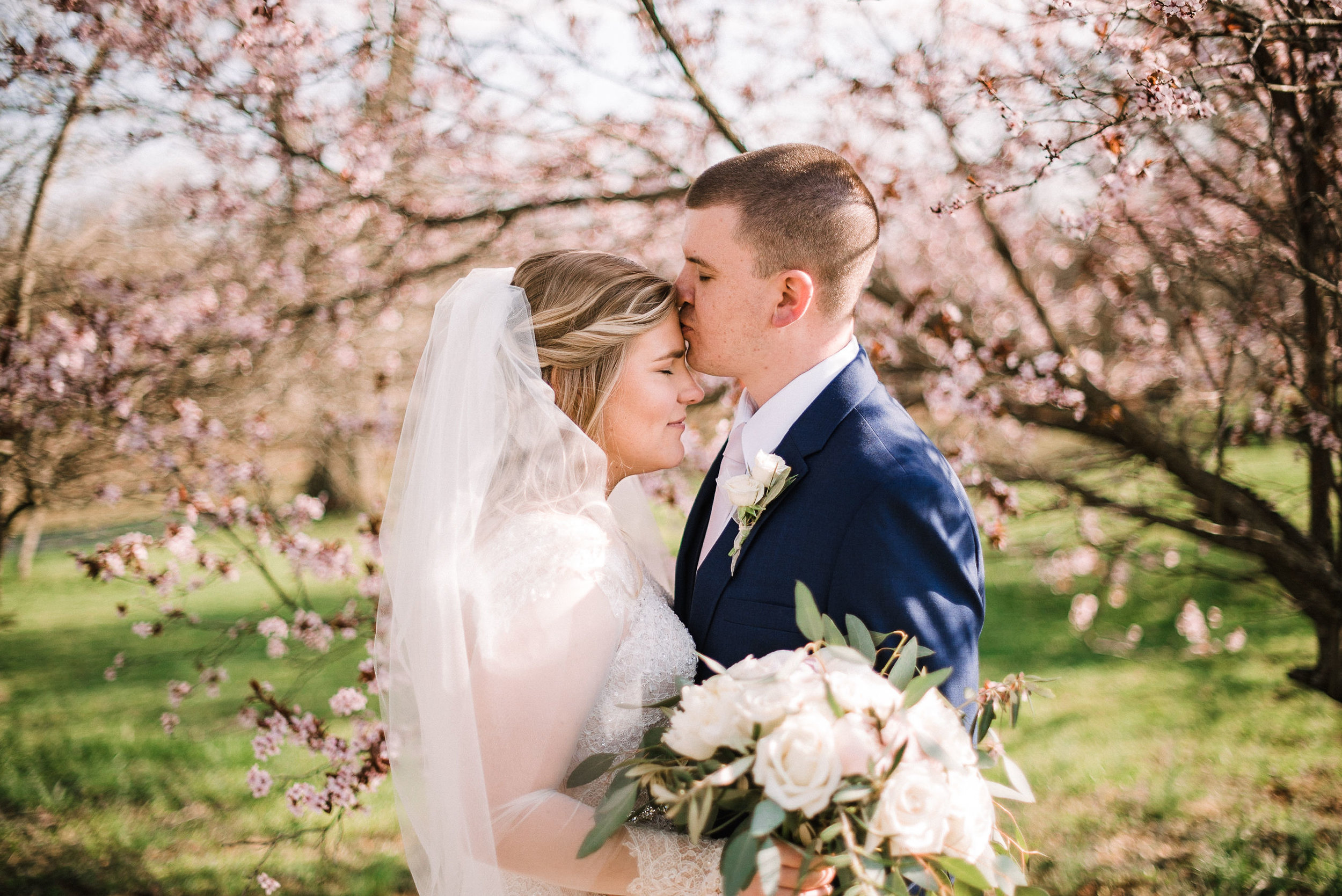 Bride and groom embracing at Rixey Manor