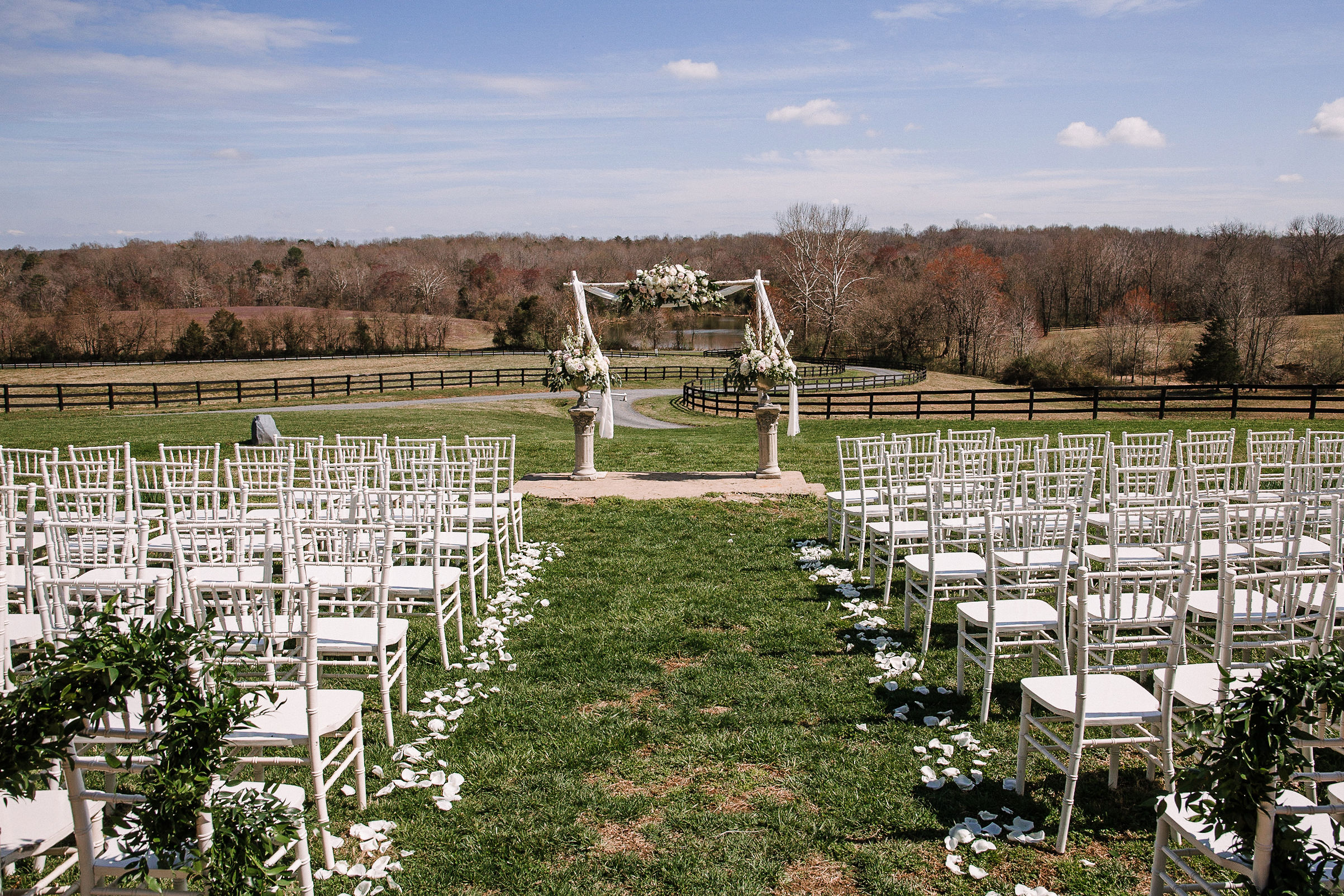 ceremony site at Rixey Manor
