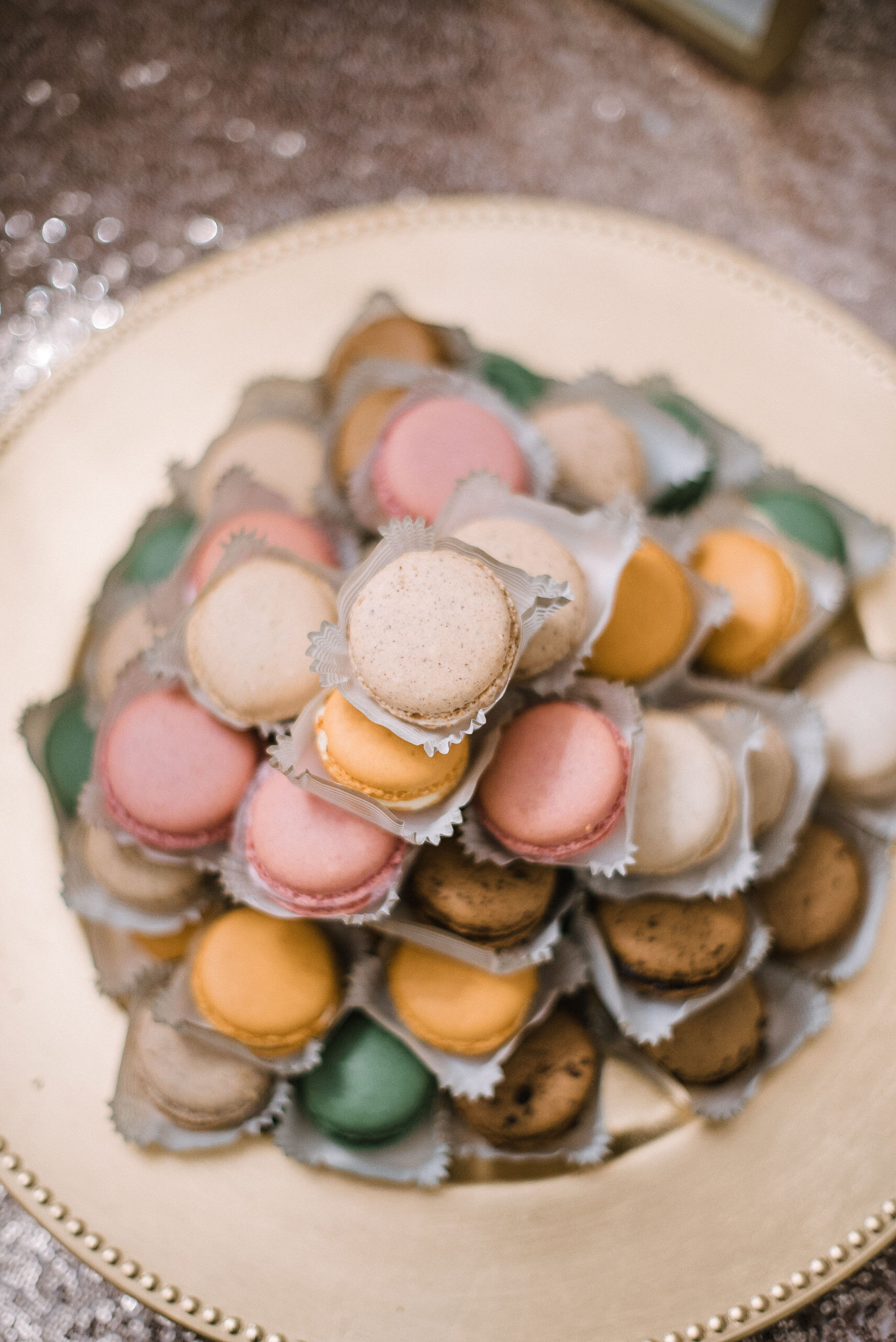 detail shot of macarons at Rixey Manor